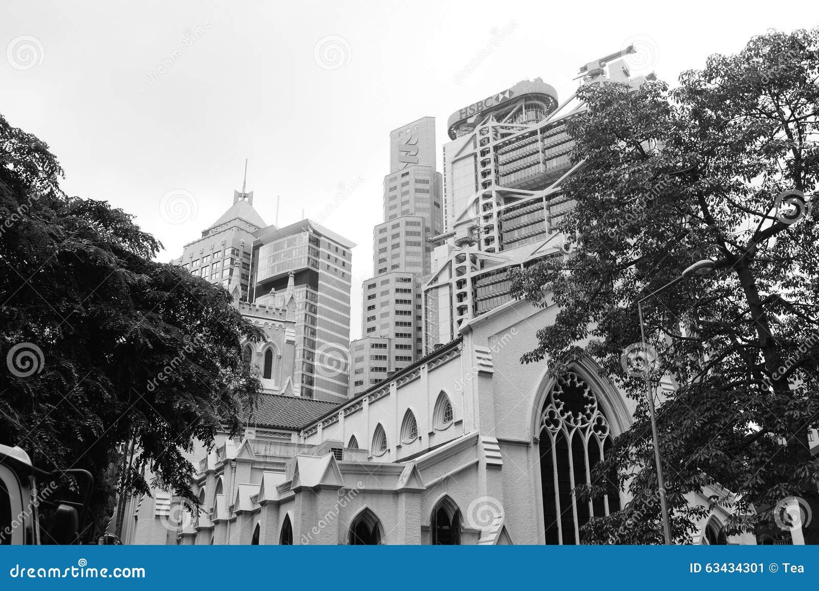 香港街市摩天大楼