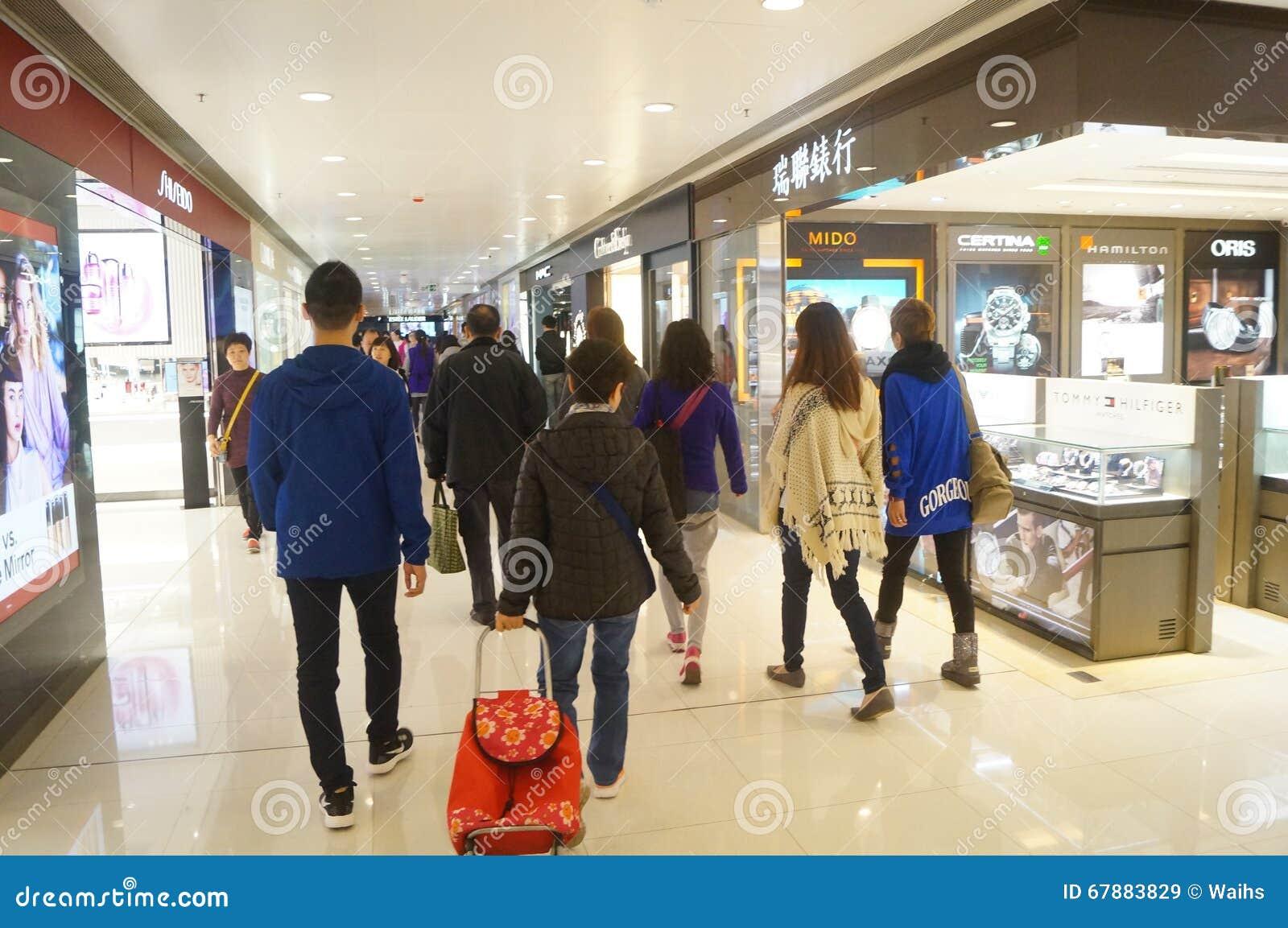 香港,中国:购物中心