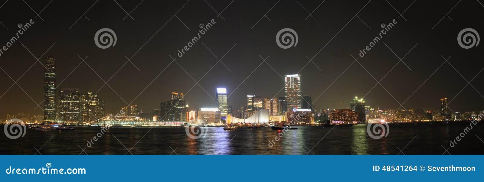 香港维多利亚港夜感觉