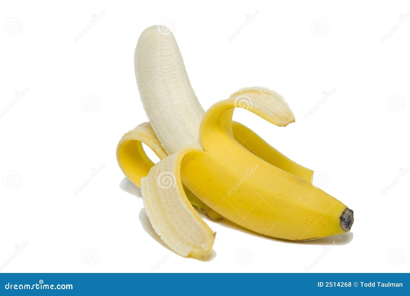 香蕉剥了皮