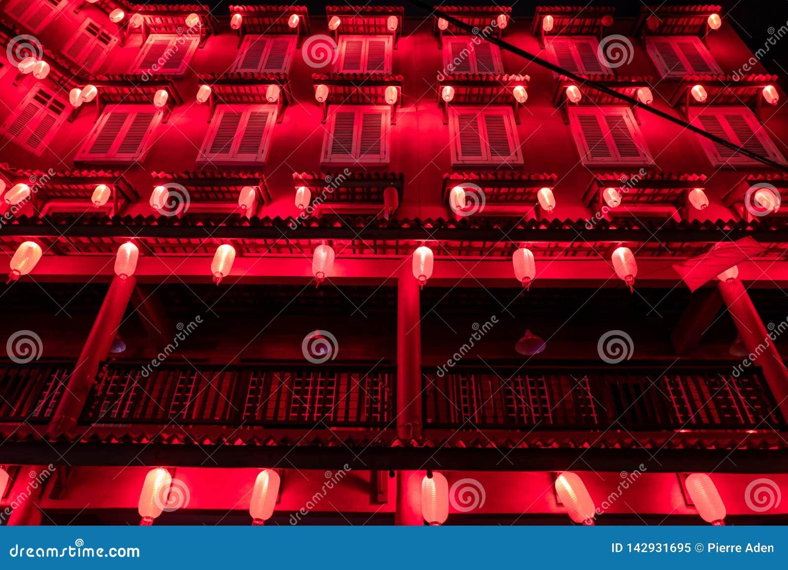 马六甲,马来西亚- 2019年2月28日:一个五颜六色的房子在马六甲老市