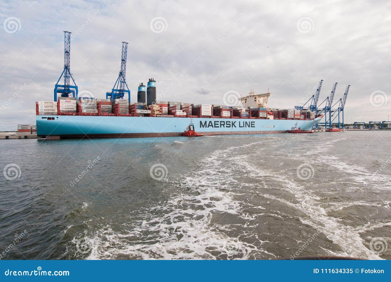 马士基集装箱船