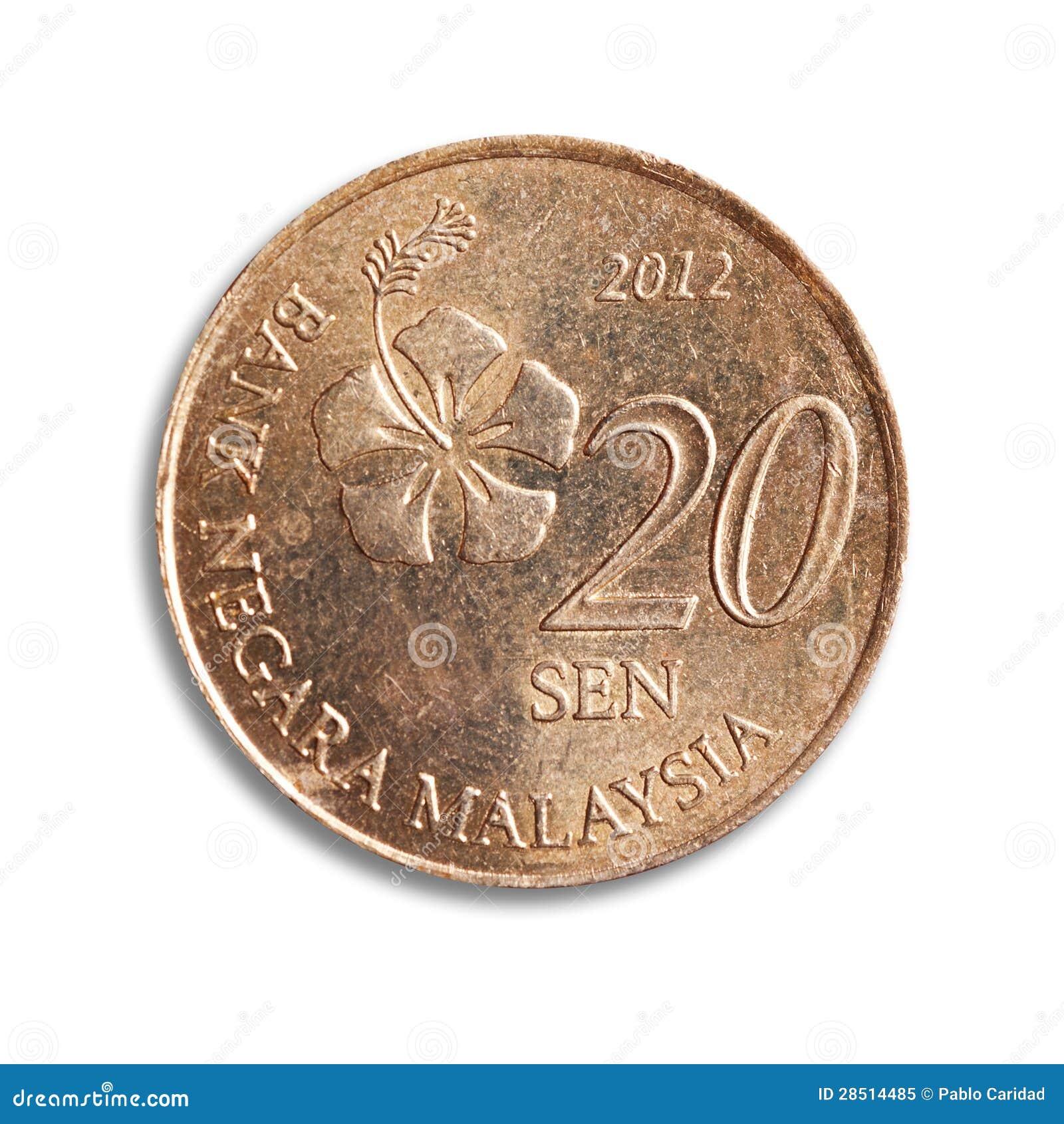 马来西亚硬币。