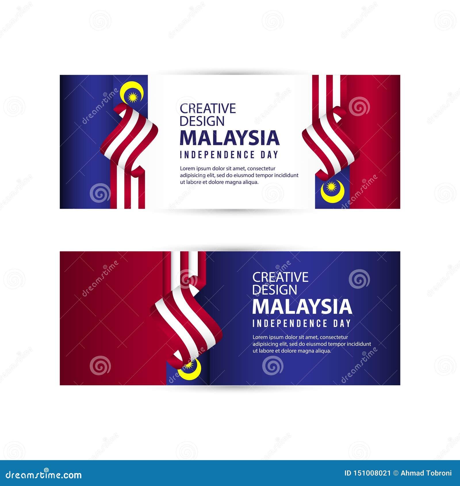 马来西亚美国独立日庆祝创造性的设计例证传染媒介模板
