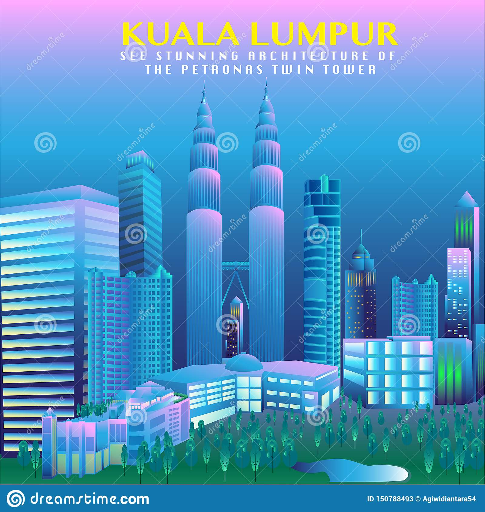 马来西亚首都传染媒介设计