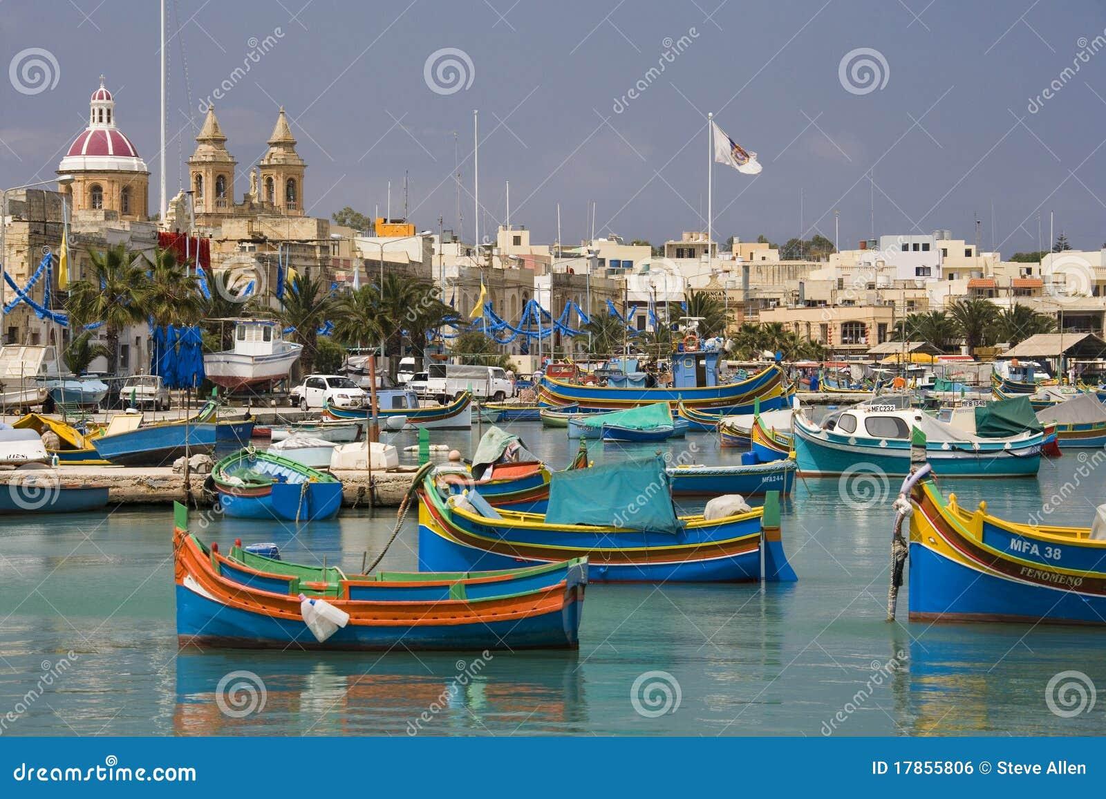 马耳他- Marsaxlokk港口