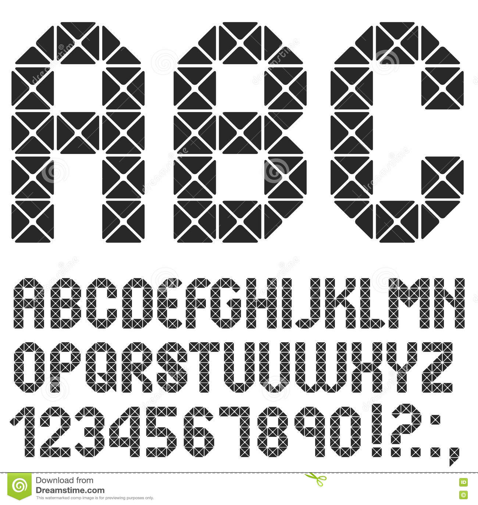 马赛克原物字母表