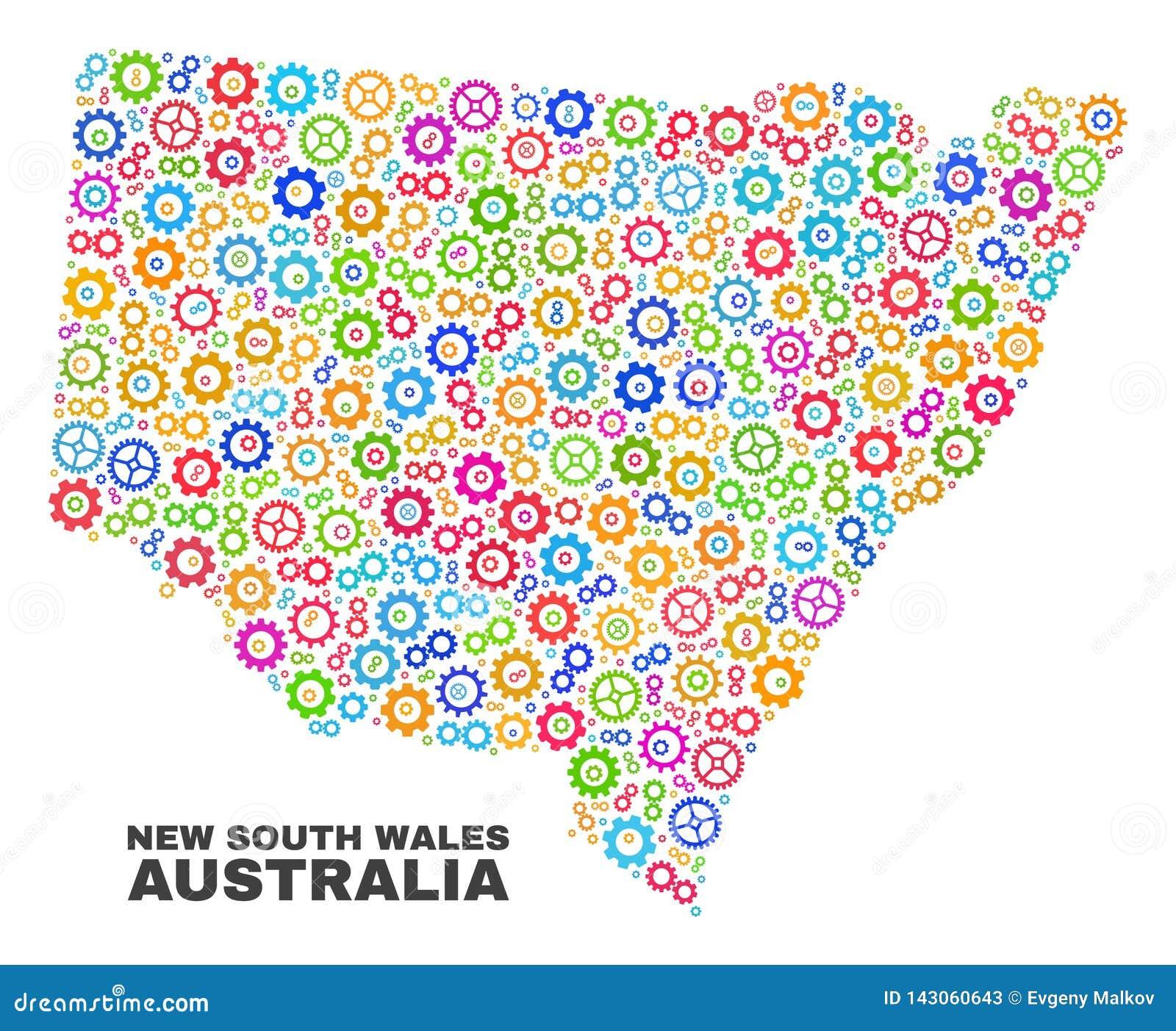 马赛克钝齿轮项目新南威尔斯地图