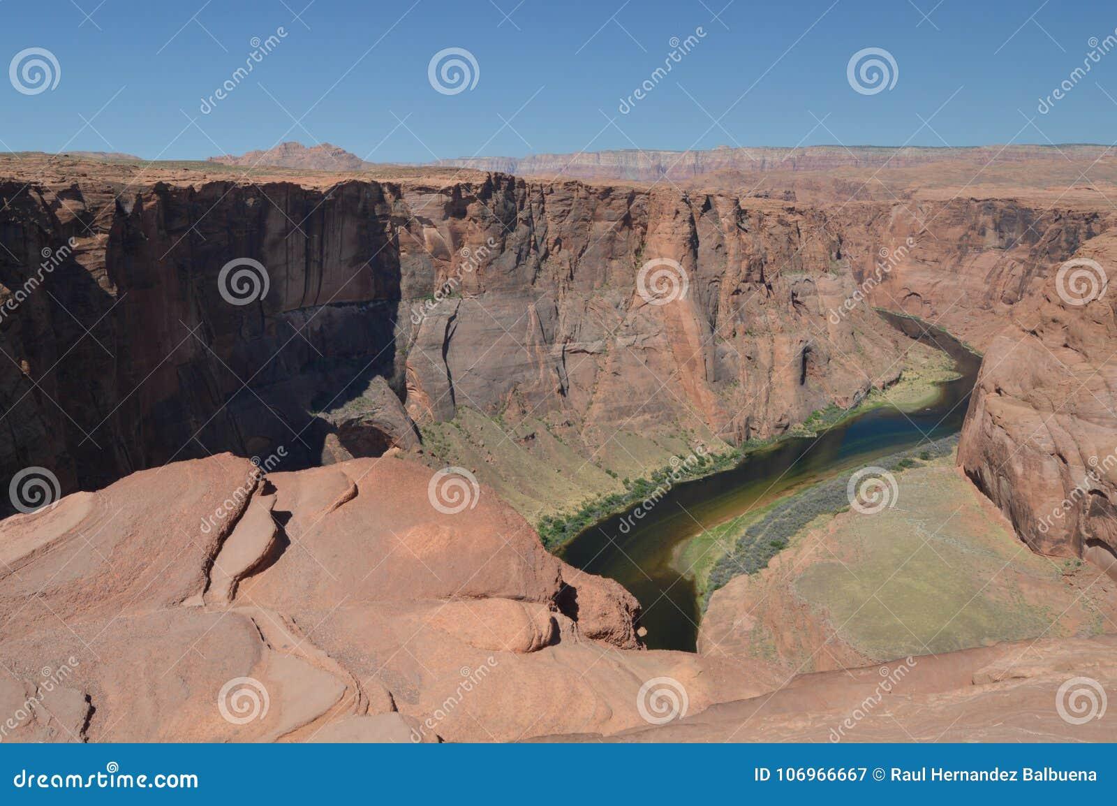 马鞋子弯 亚利桑那科罗拉多马掌河美国 地质