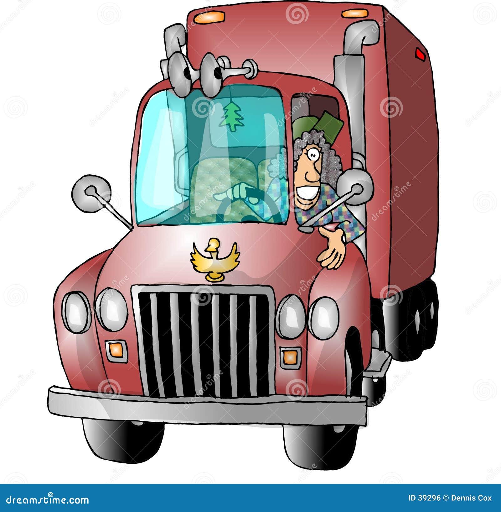 驱动器女性卡车