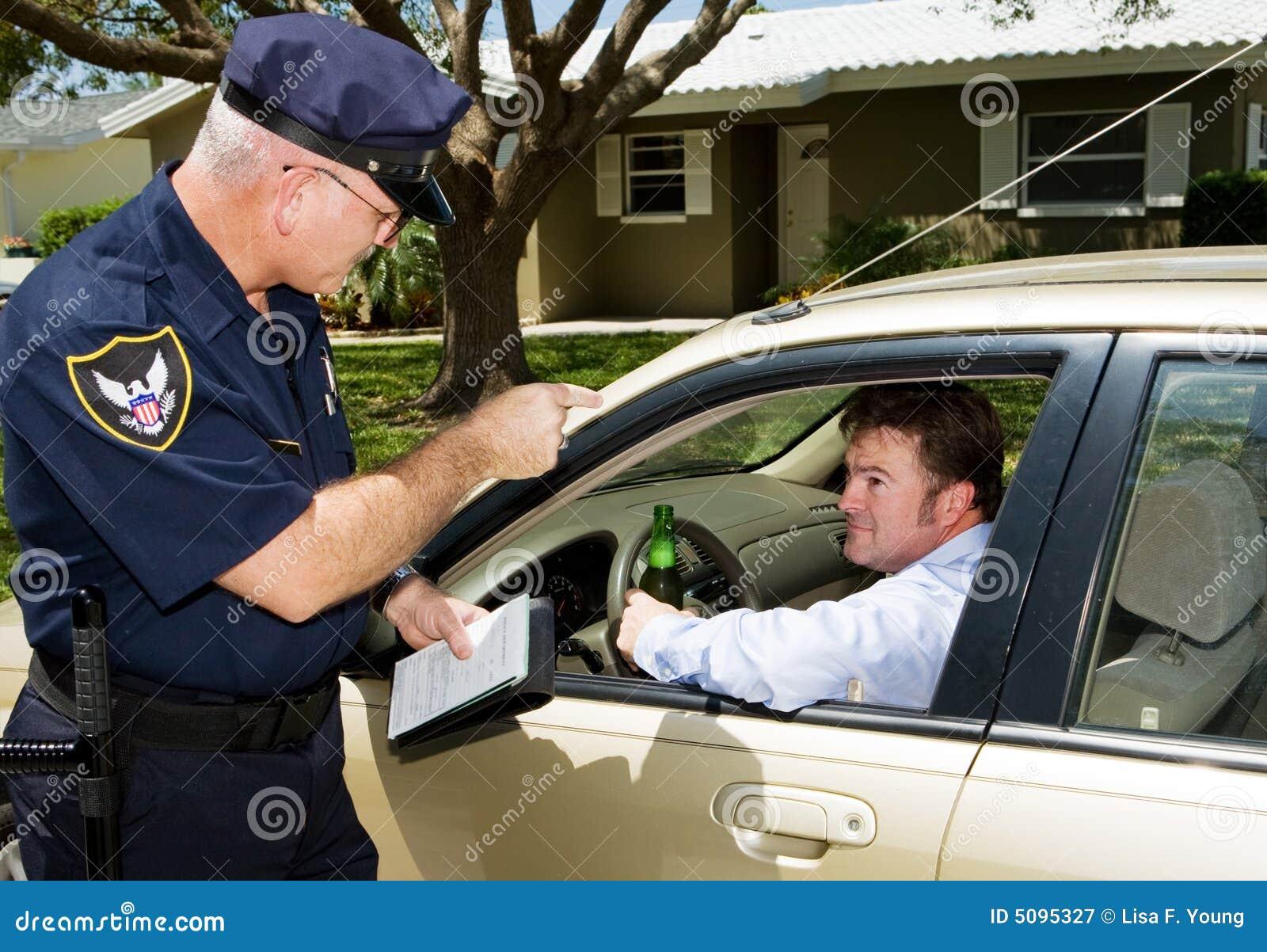 驱动被喝的警察