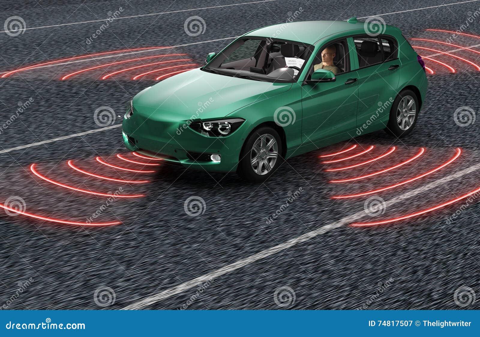 驾驶在路的自已电子计算机汽车