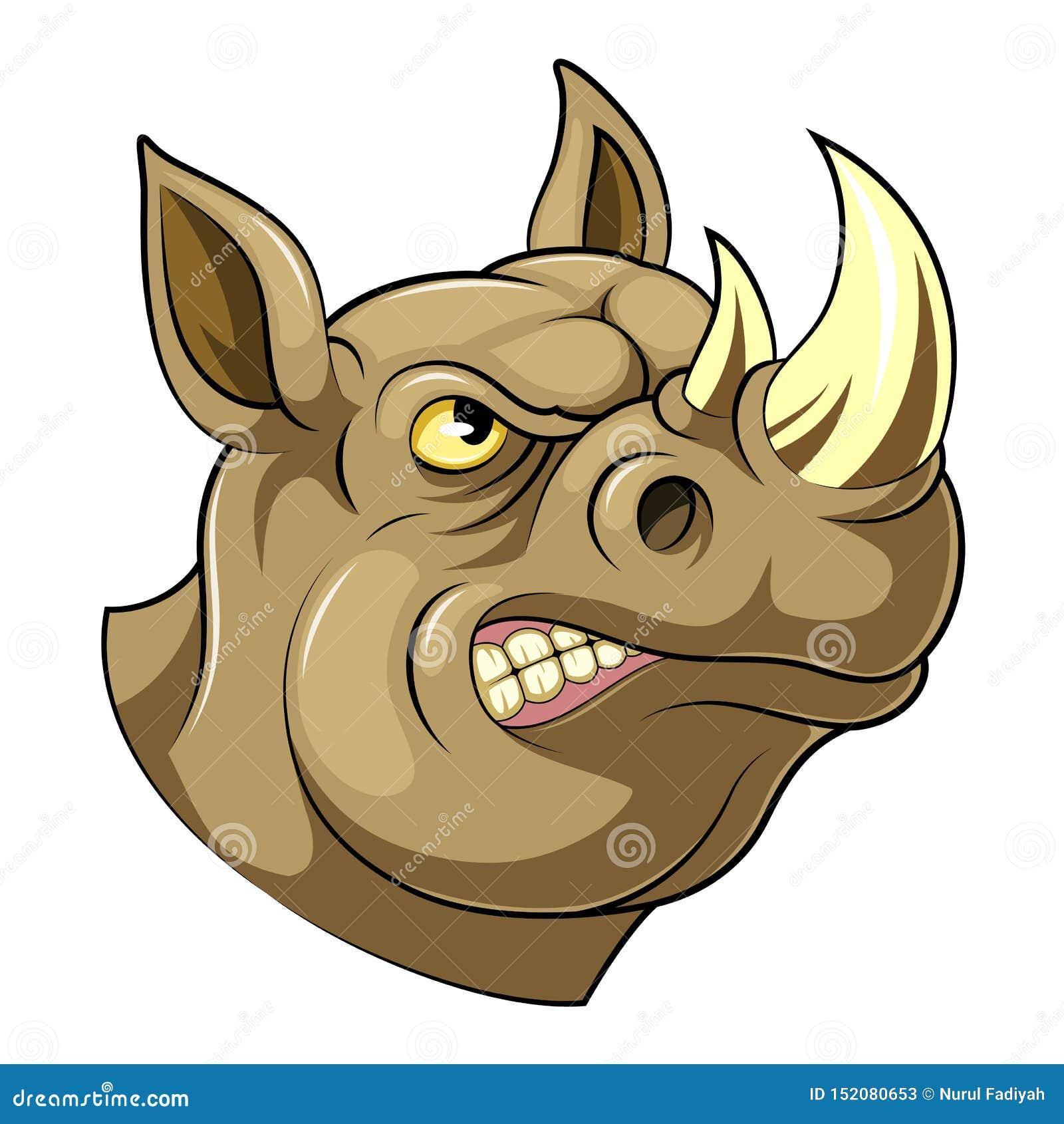 骄傲的犀牛头