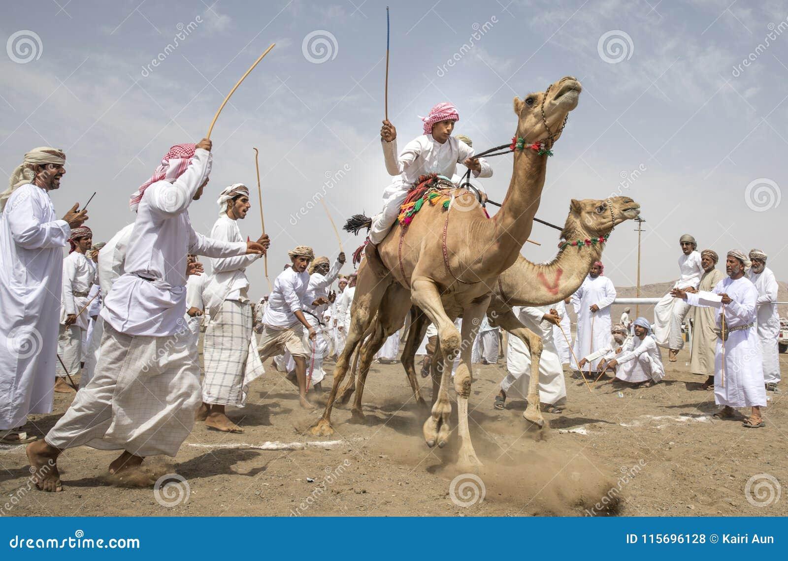 骆驼的人在种族的开始