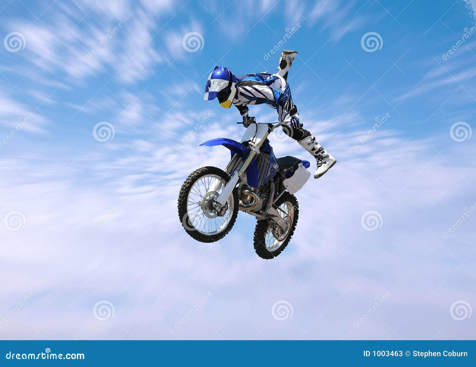 骑自行车土车手特技