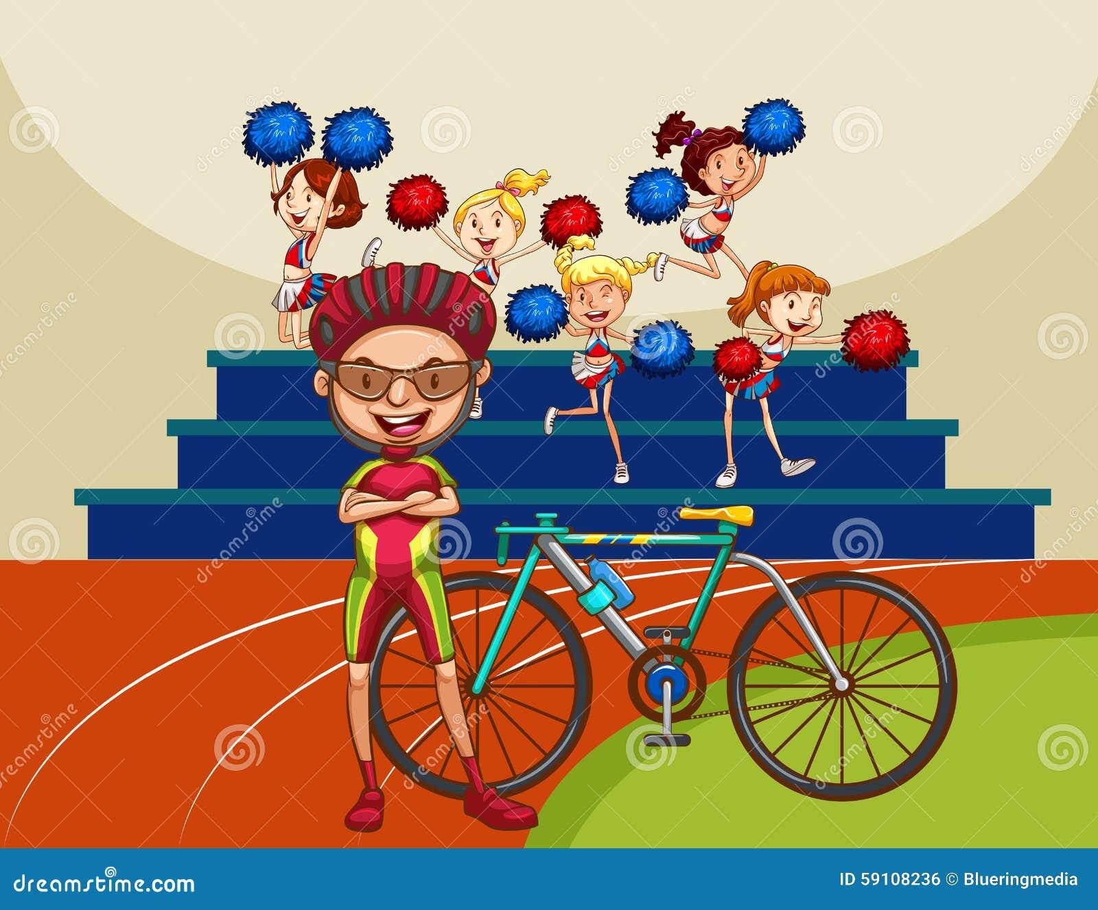 骑自行车的人和自行车在领域