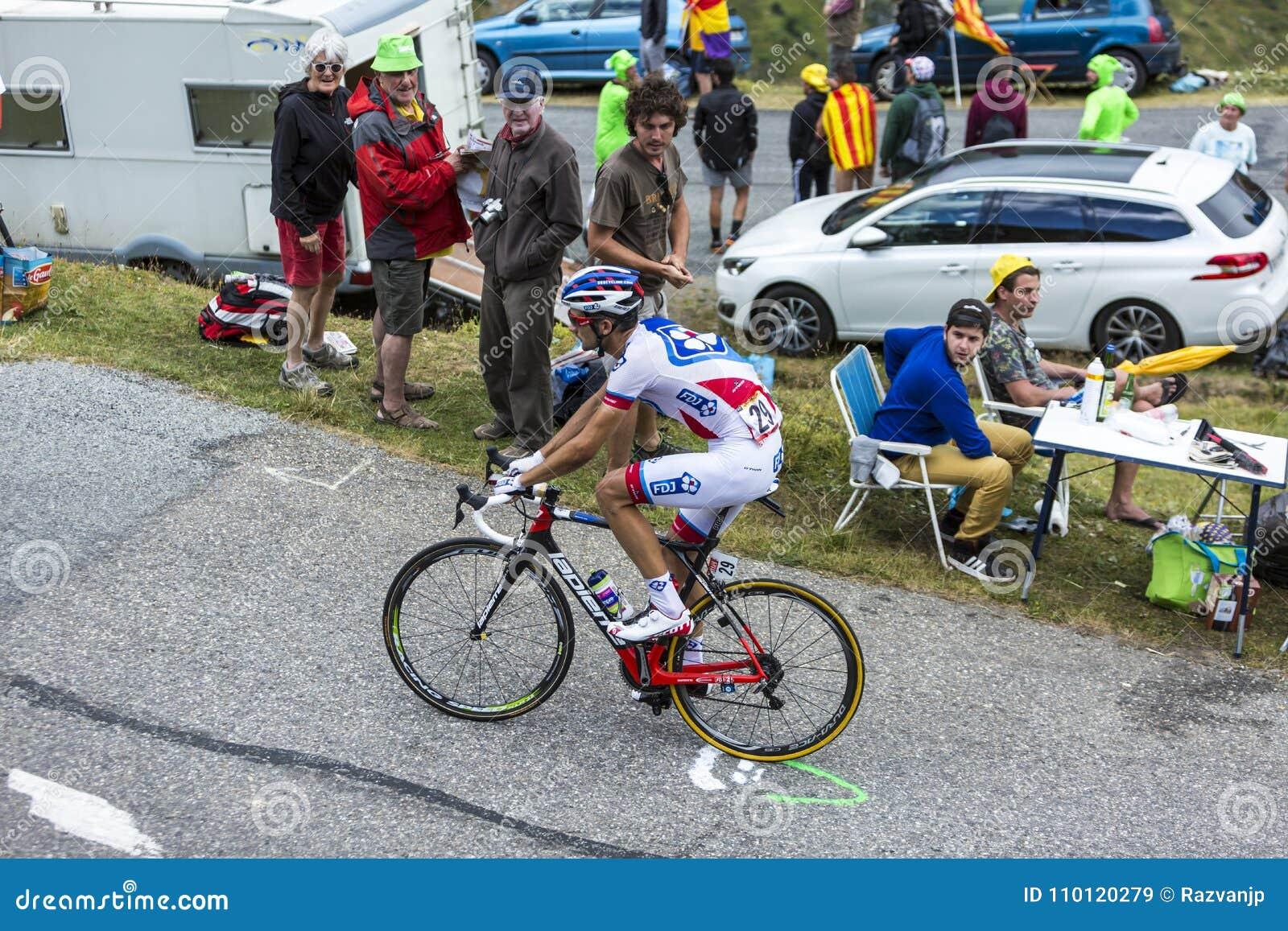 骑自行车者伯努瓦Vaugrenard -环法自行车赛2015年