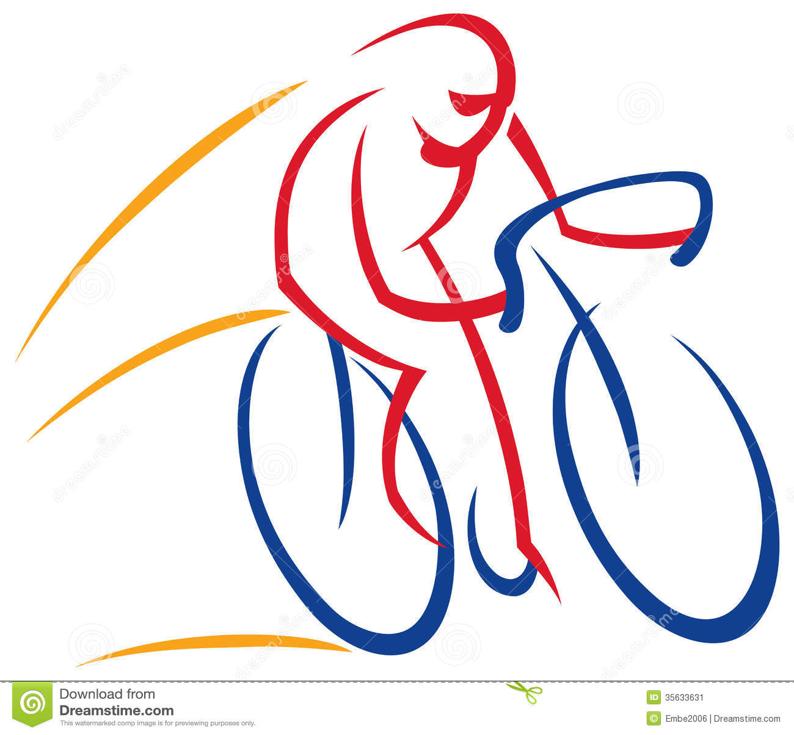 骑自行车者商标