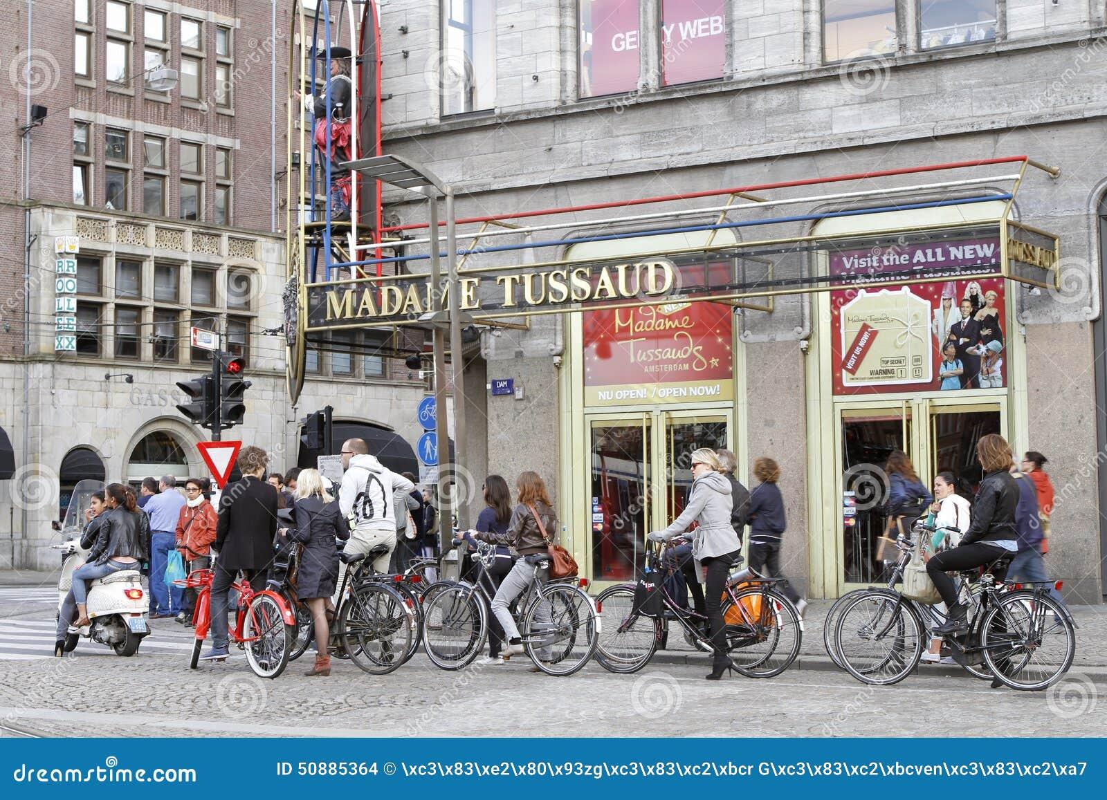 骑自行车者在阿姆斯特丹,荷兰