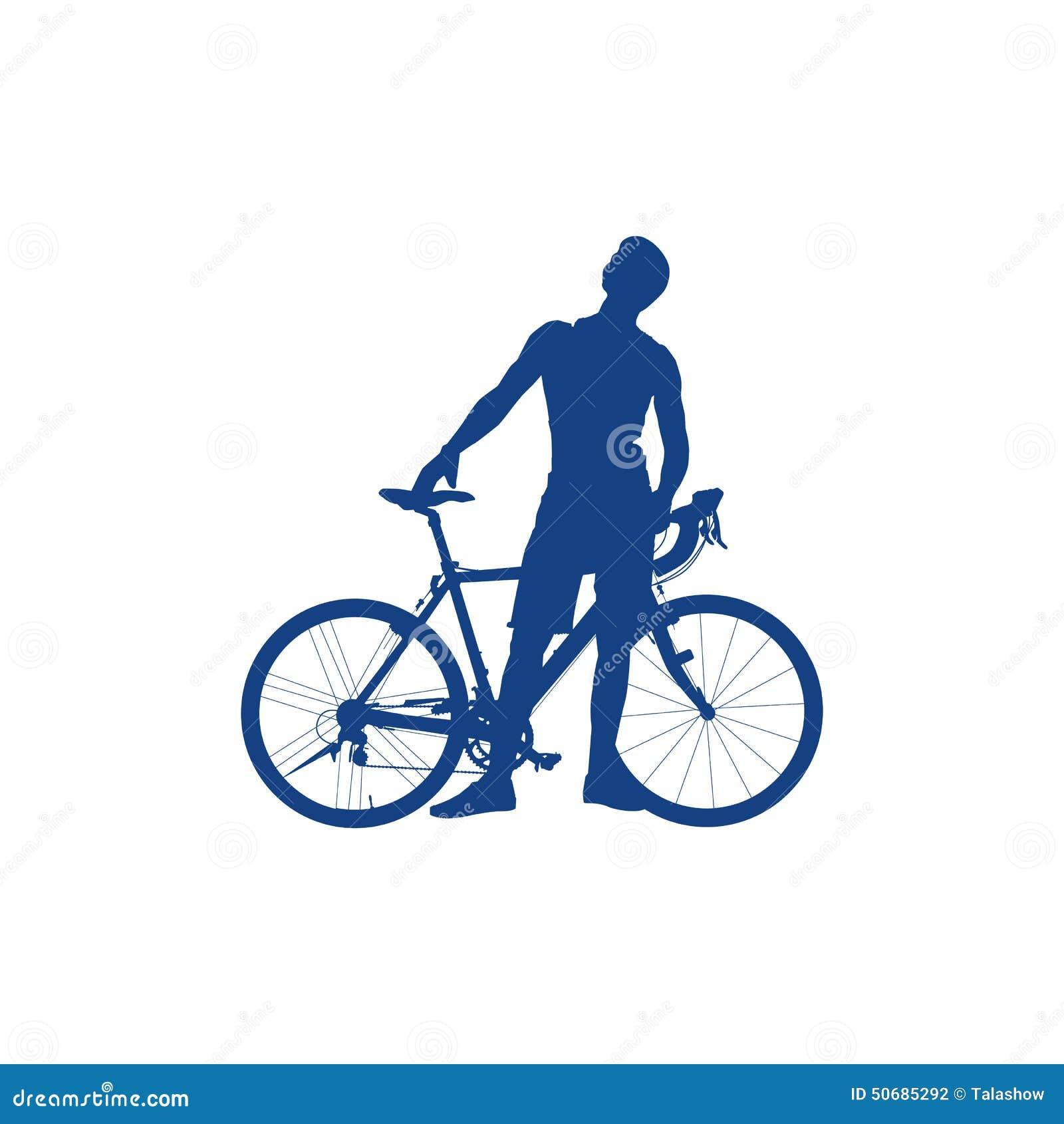 Download 骑自行车者的剪影 向量例证. 插画 包括有 自行车骑士, 行程, 男朋友, 骑自行车的人, 行动, 快速 - 50685292