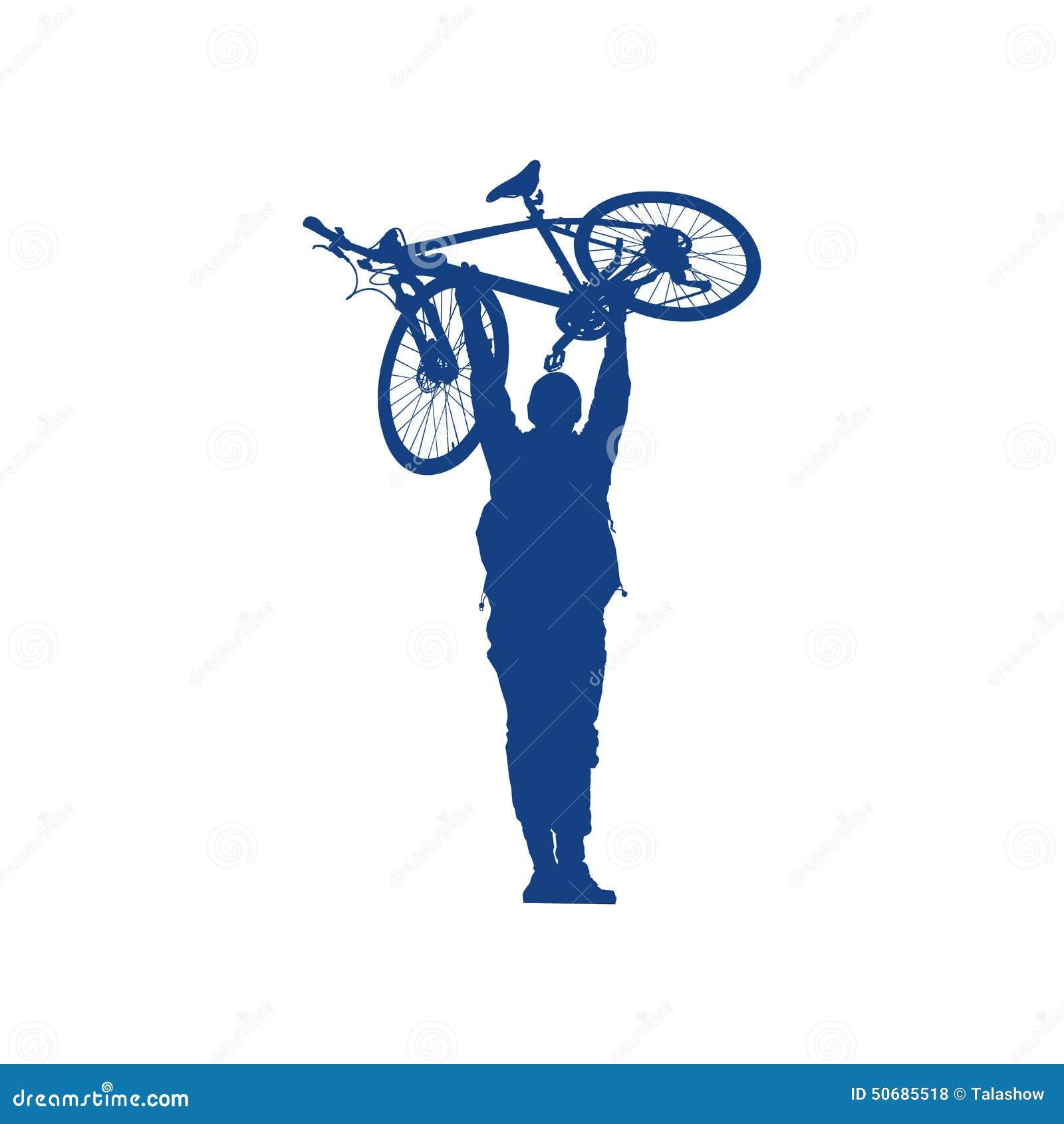 Download 骑自行车者的剪影 向量例证. 插画 包括有 曲线, 脚蹬, 人员, 自行车, 单车手, 人们, 行动, 自行车骑士 - 50685518