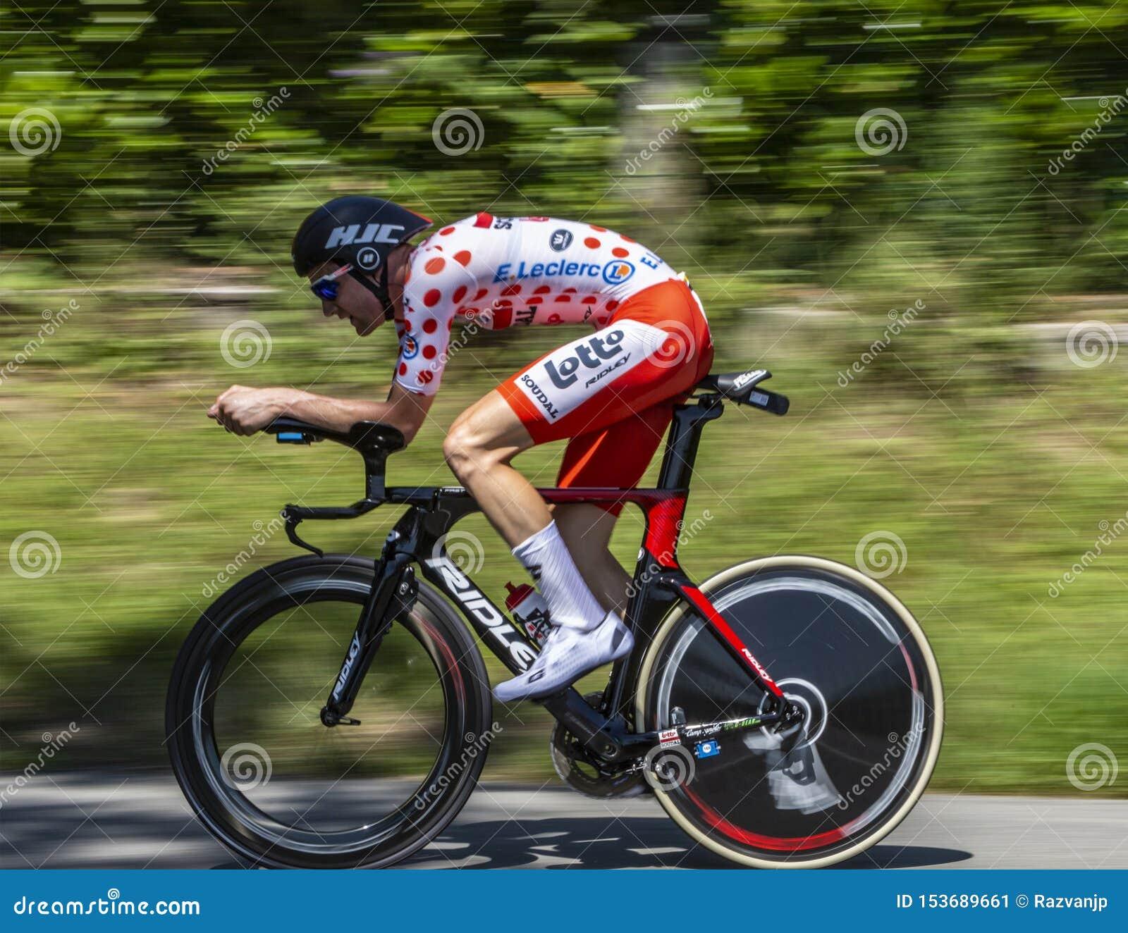 骑自行车者蒂姆维尔伦斯-环法自行车赛2019年