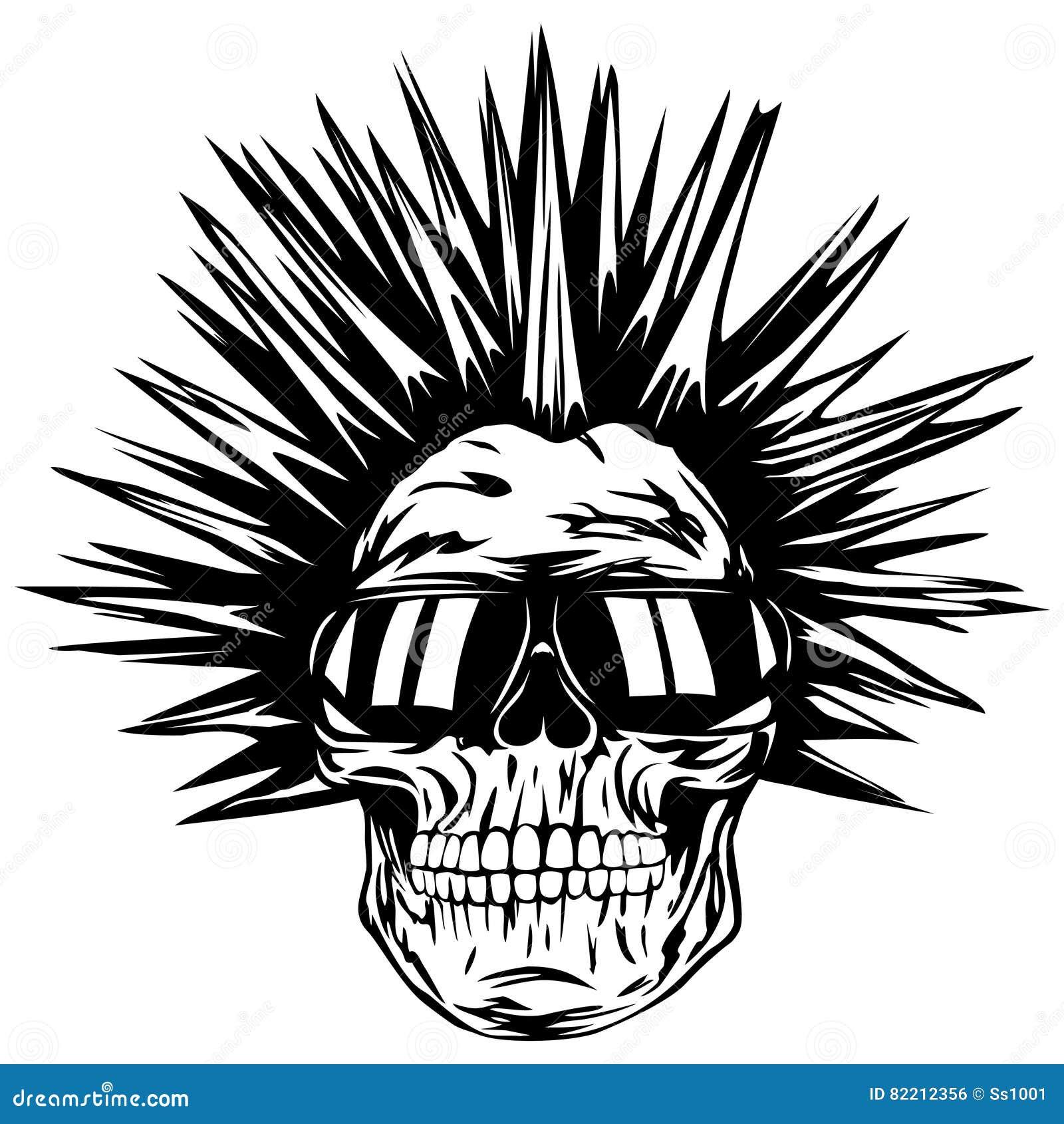 头骨废物太阳镜
