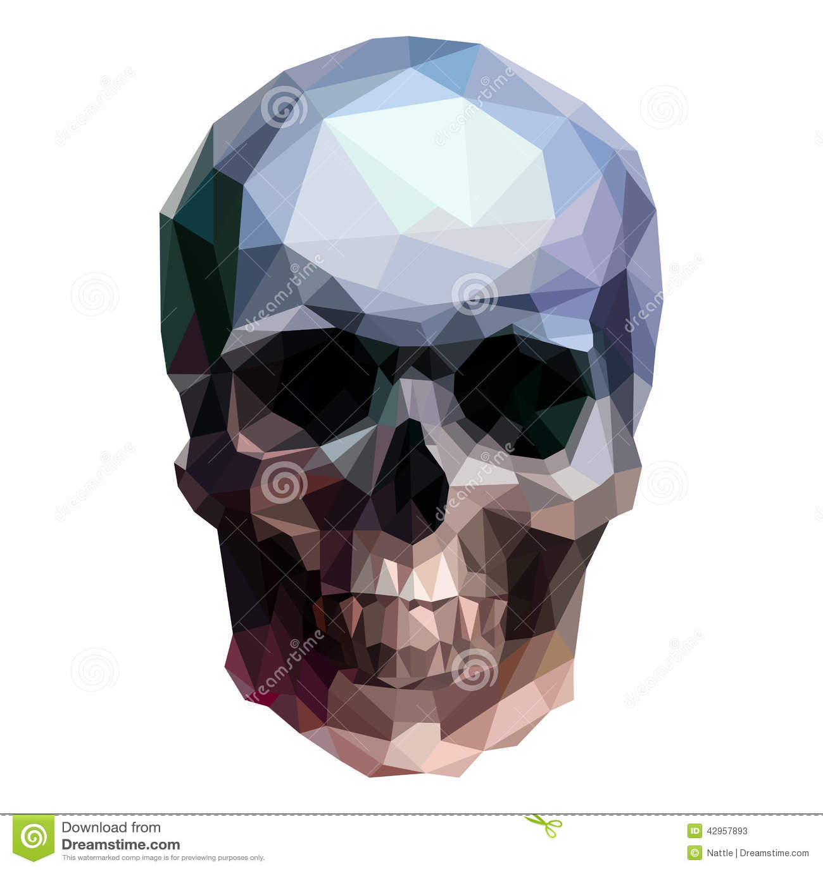 在白色背景的传染媒介水晶头骨.