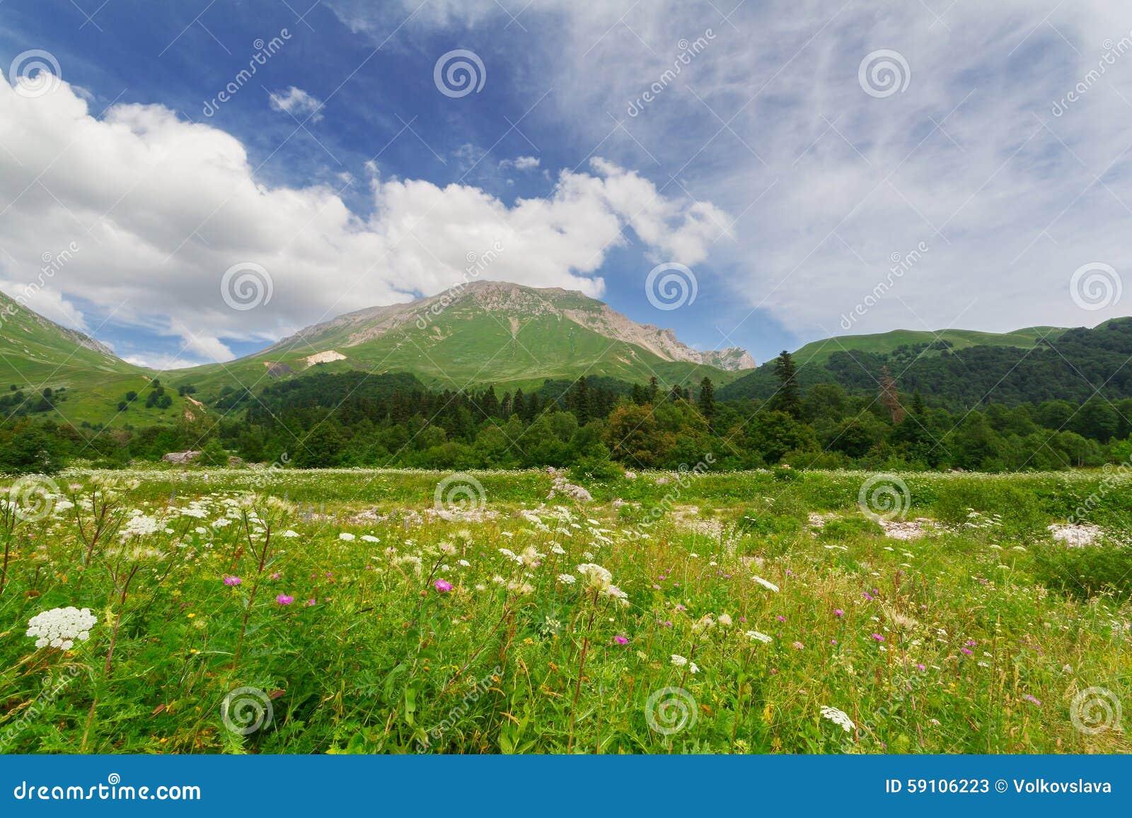 高加索横向山北部全景