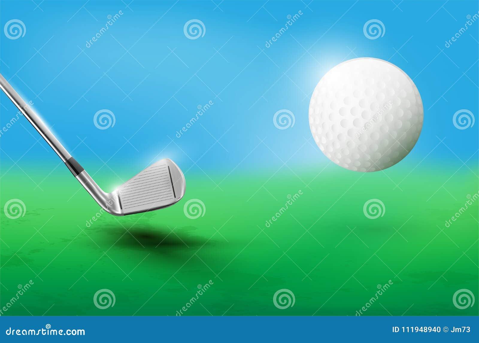 高尔夫俱乐部和飞行高尔夫球