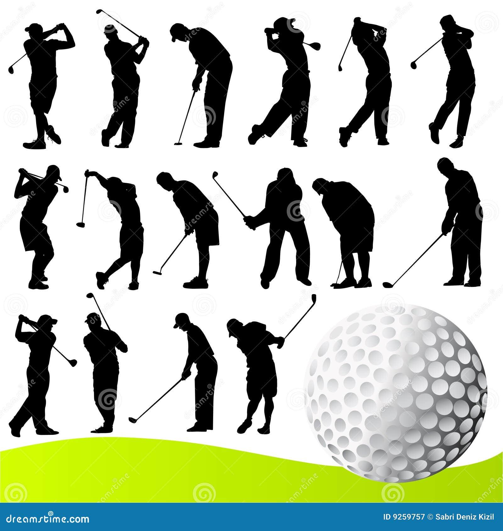 高尔夫球运动员向量
