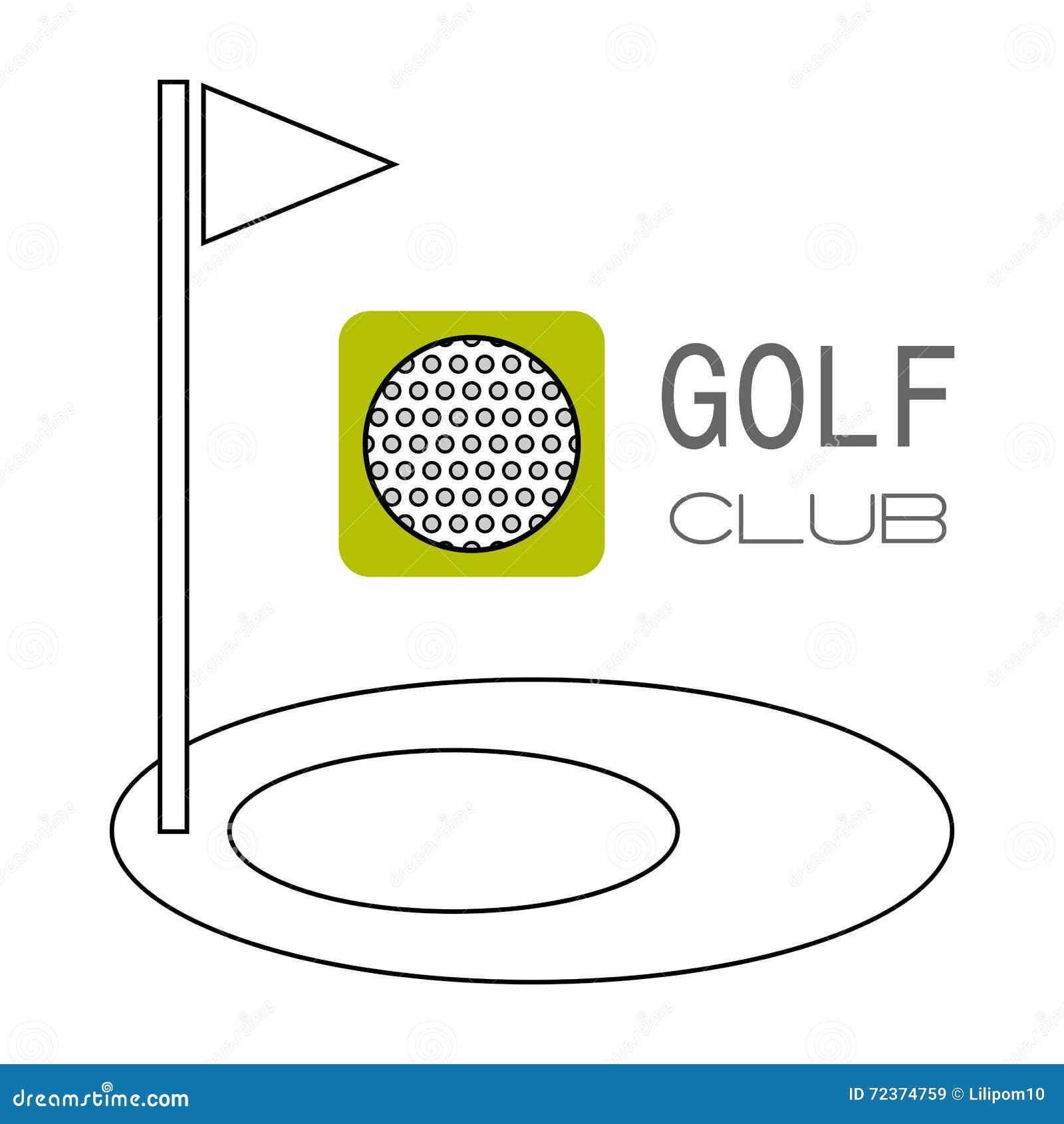 高尔夫球,比赛的孔 平的颜色象 体育对象