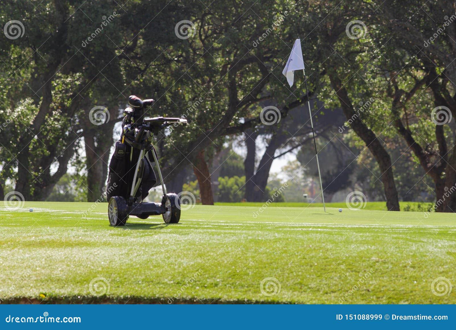 高尔夫车晴朗在马拉加
