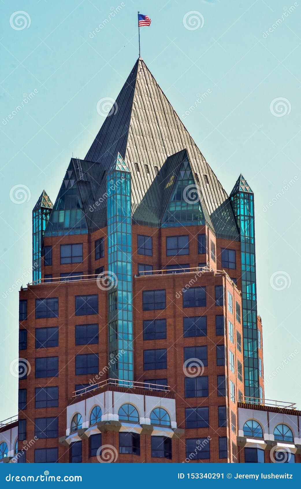 高摩天大楼在密尔沃基威斯康辛