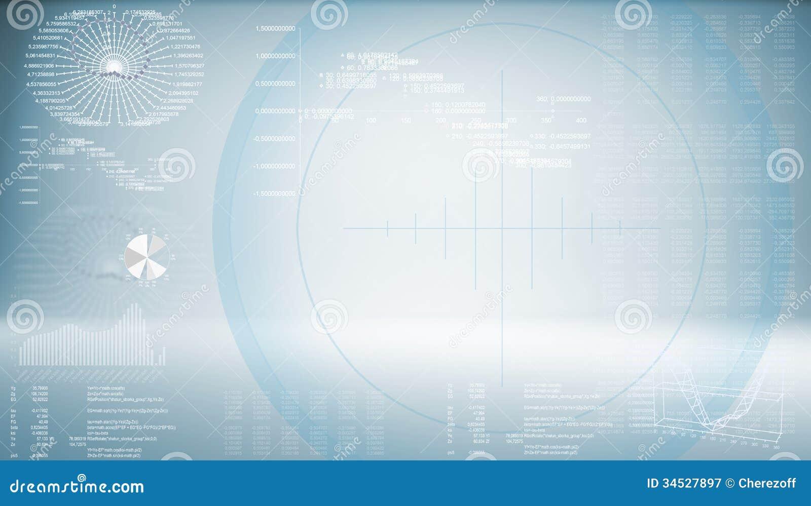 高科技藍色背景.未來技術的概念.圖片