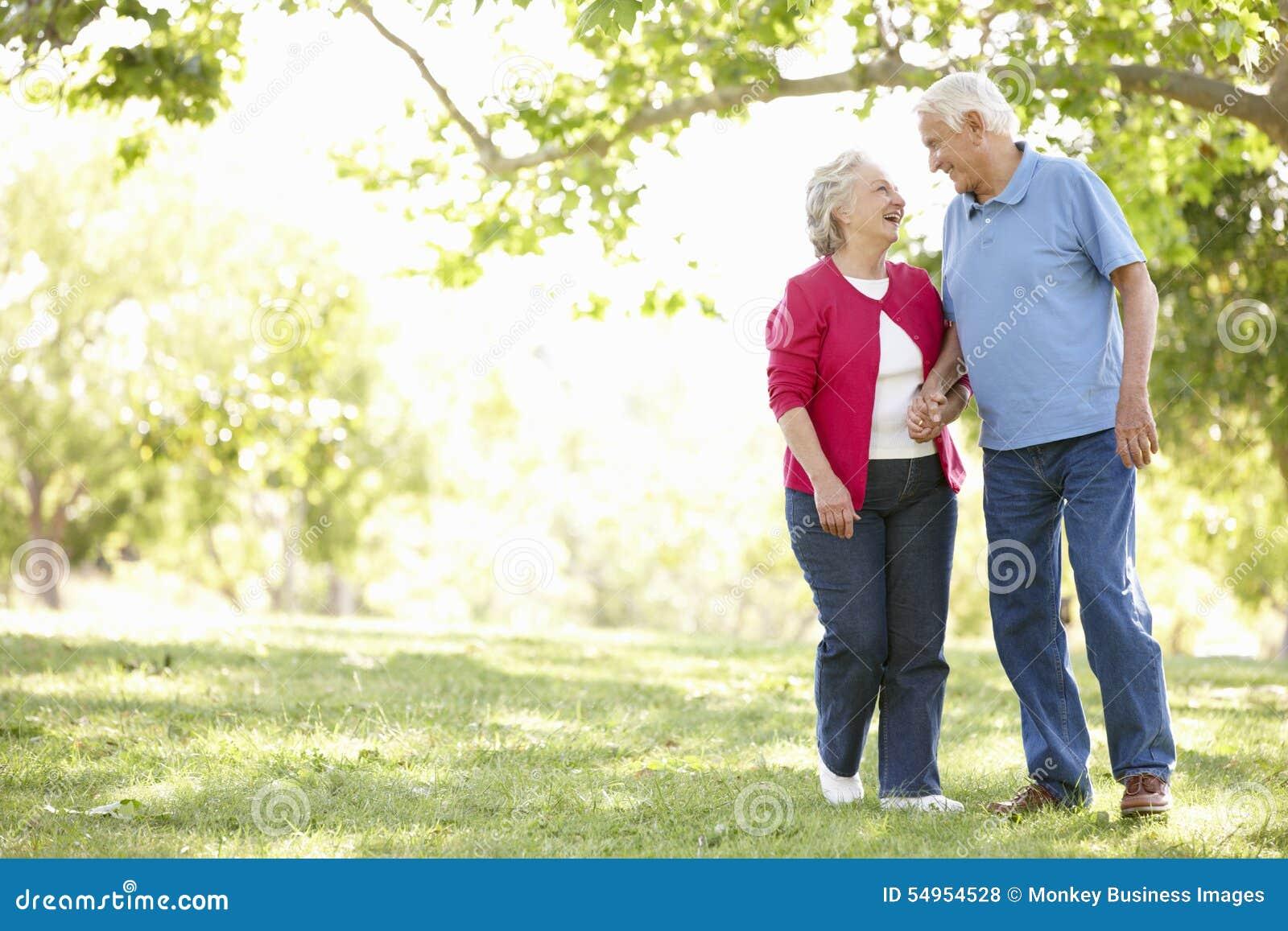 高级夫妇在公园