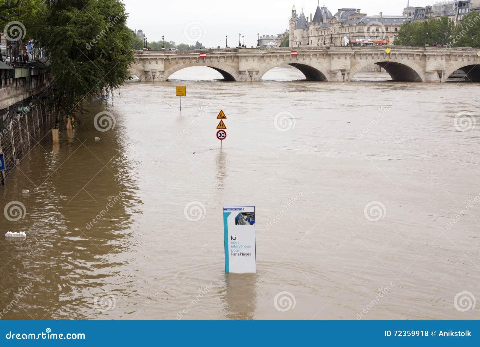 高级水在塞纳河