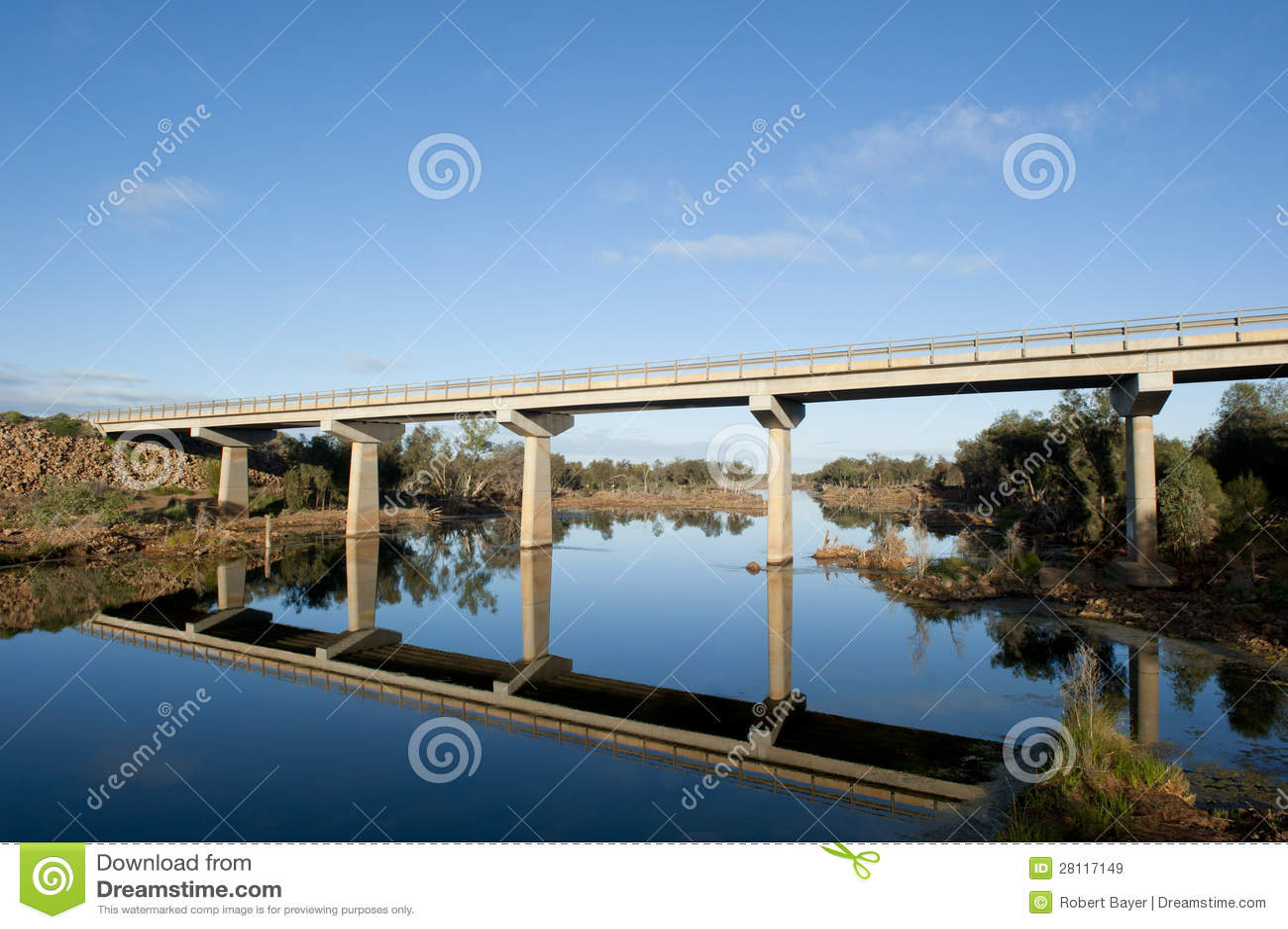 高速公路桥梁在内地澳大利亚西部