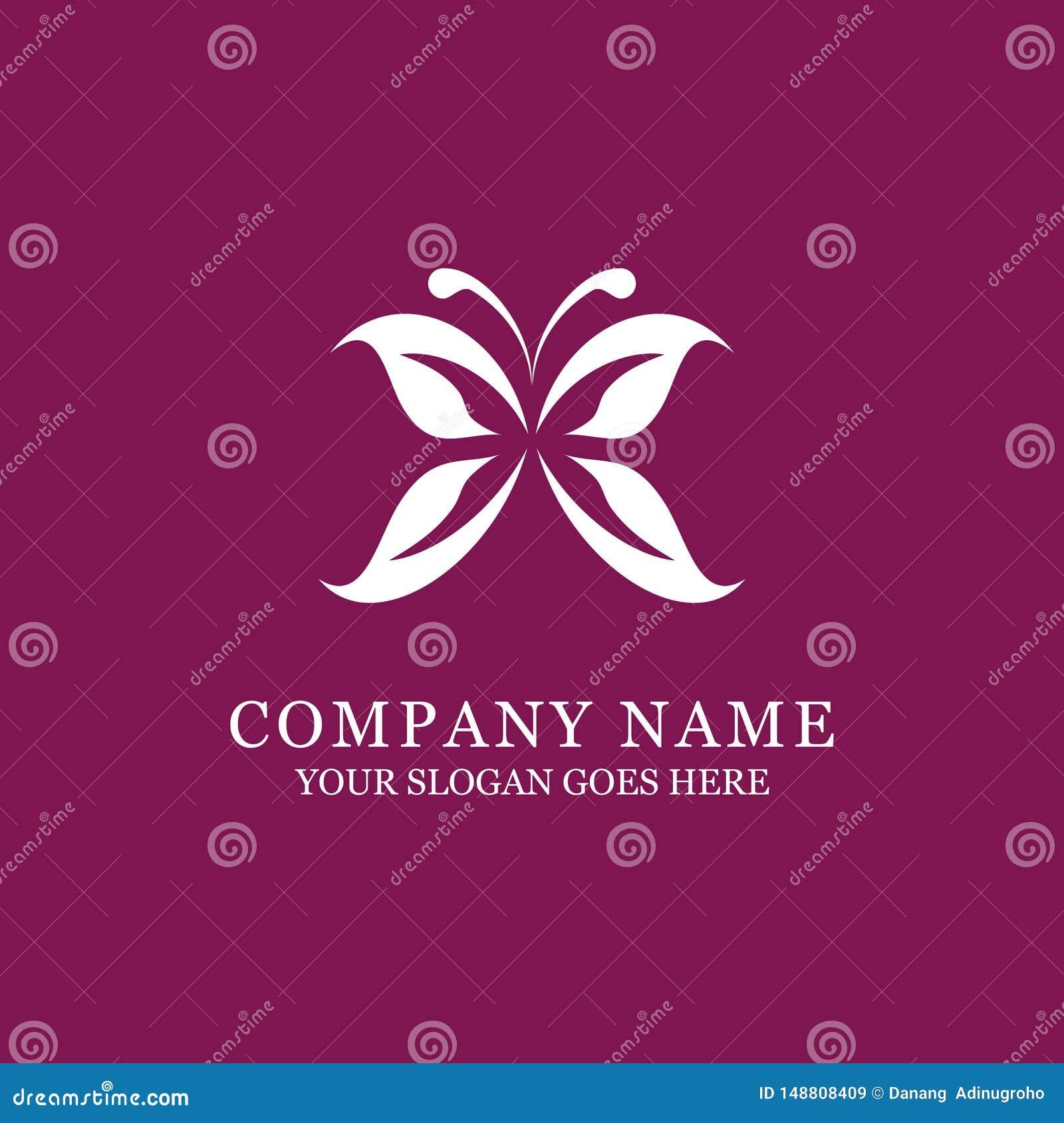 高雅蝴蝶商标设计、秀丽和时尚