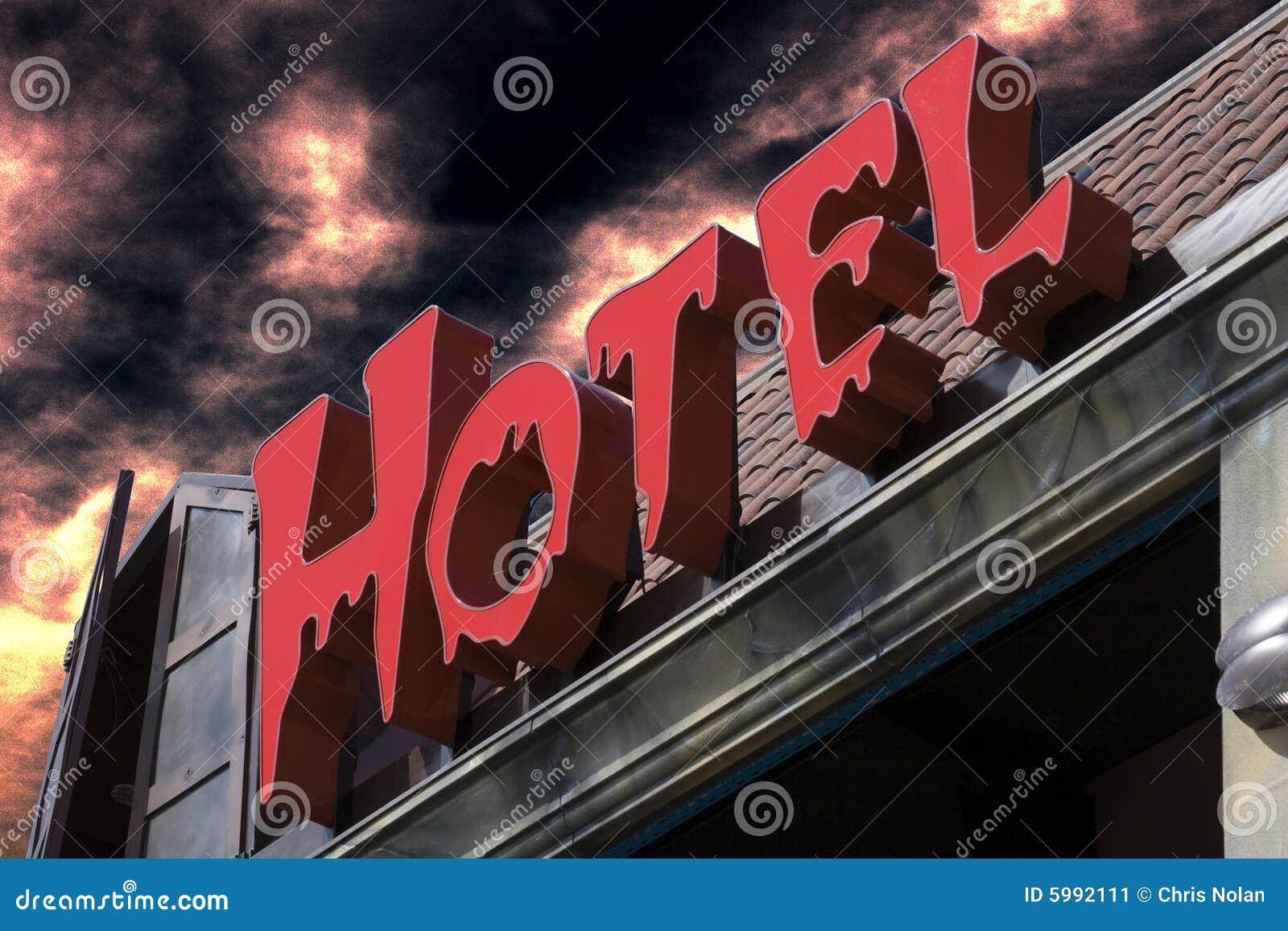 鬼旅馆红色的符号