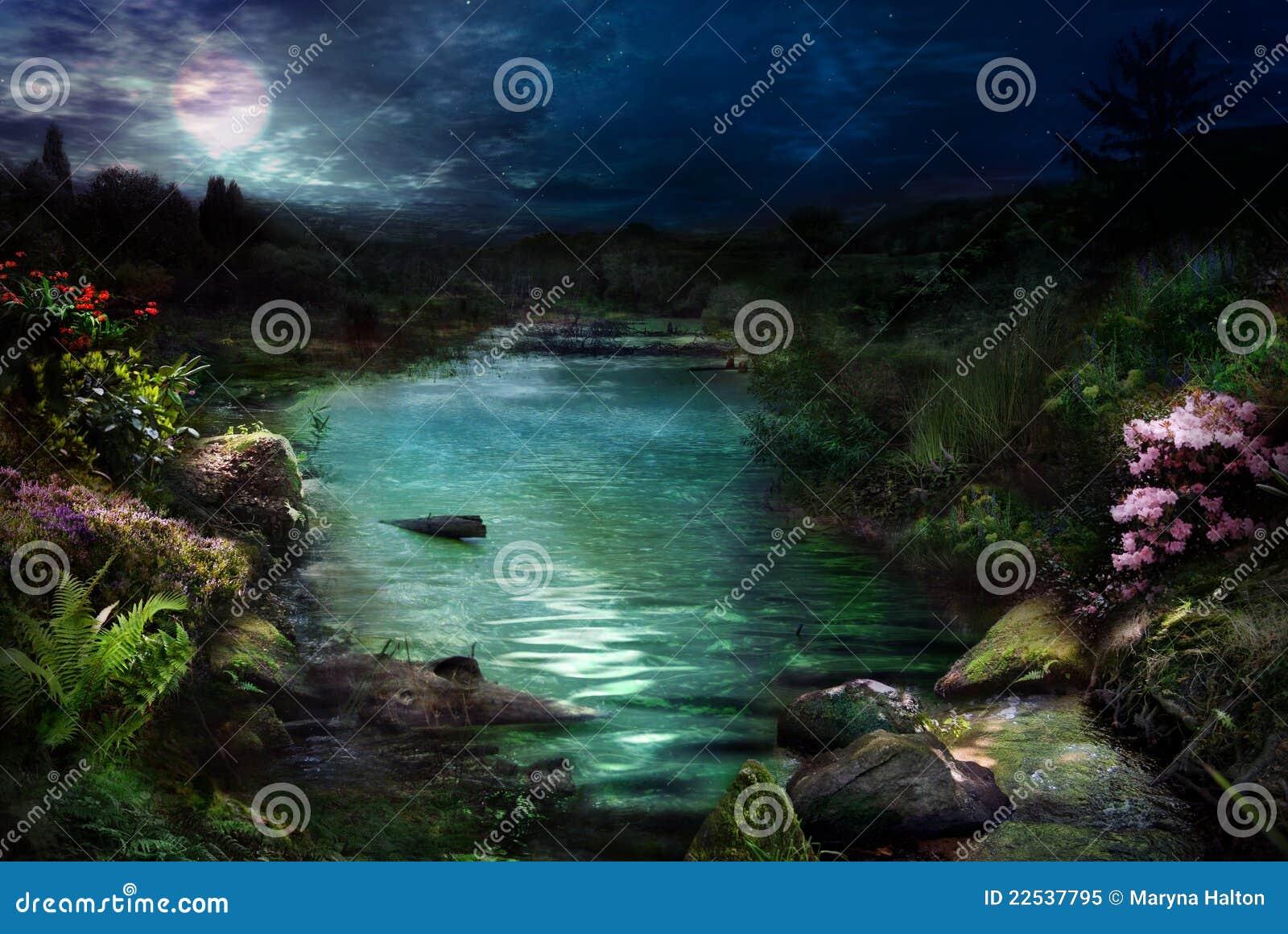 魔术晚上河
