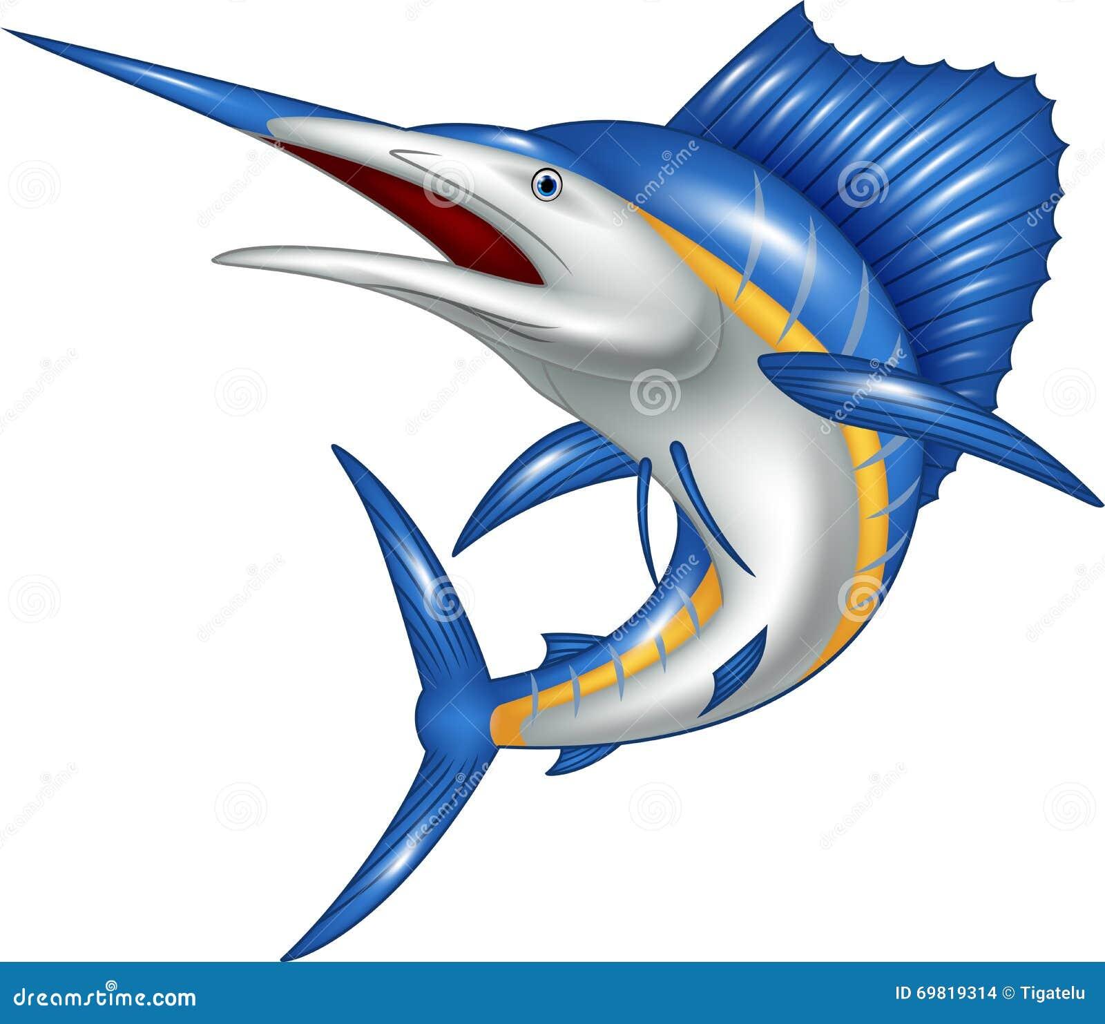 细索鱼动画片的动画片例证