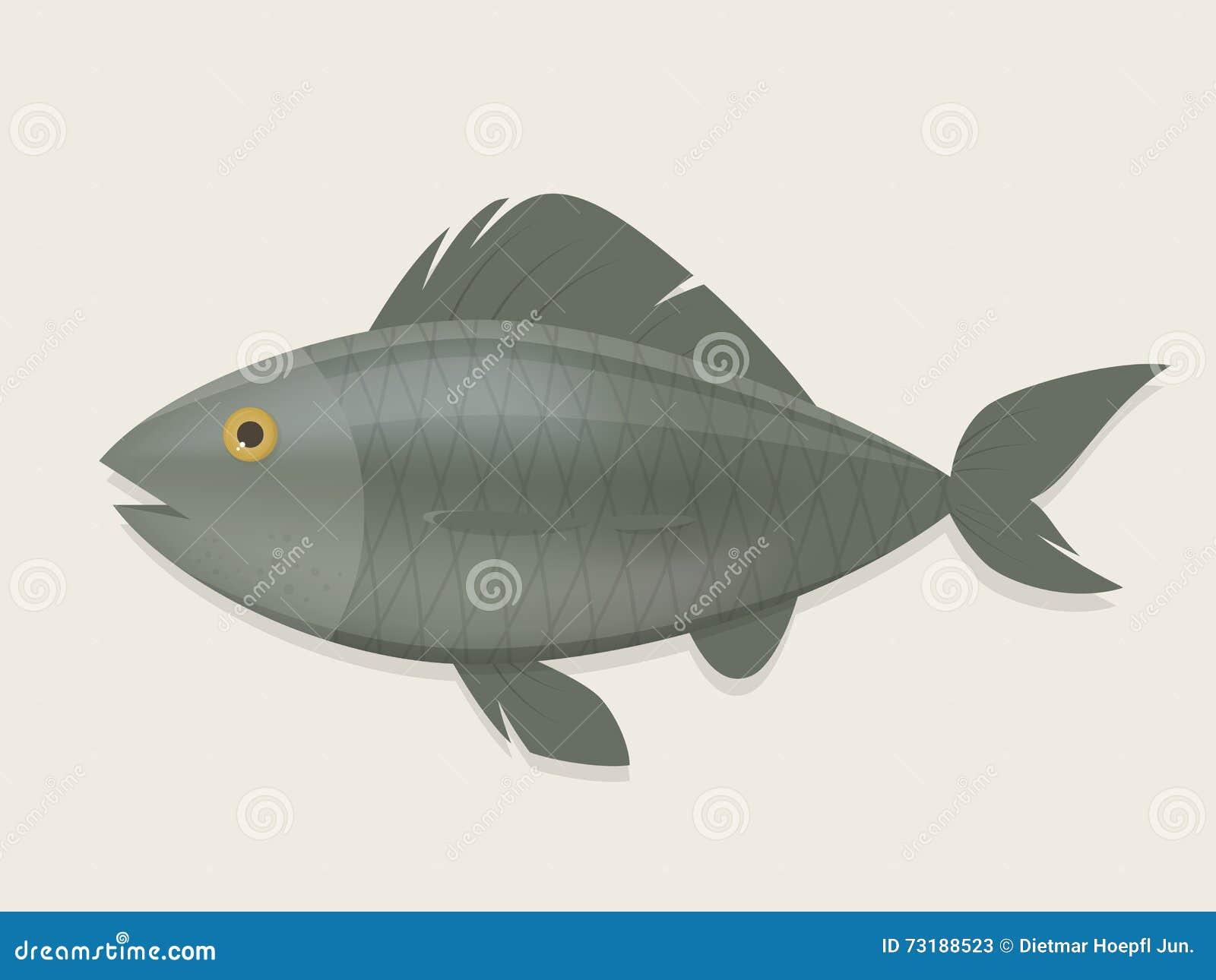 鱼的动画片例证