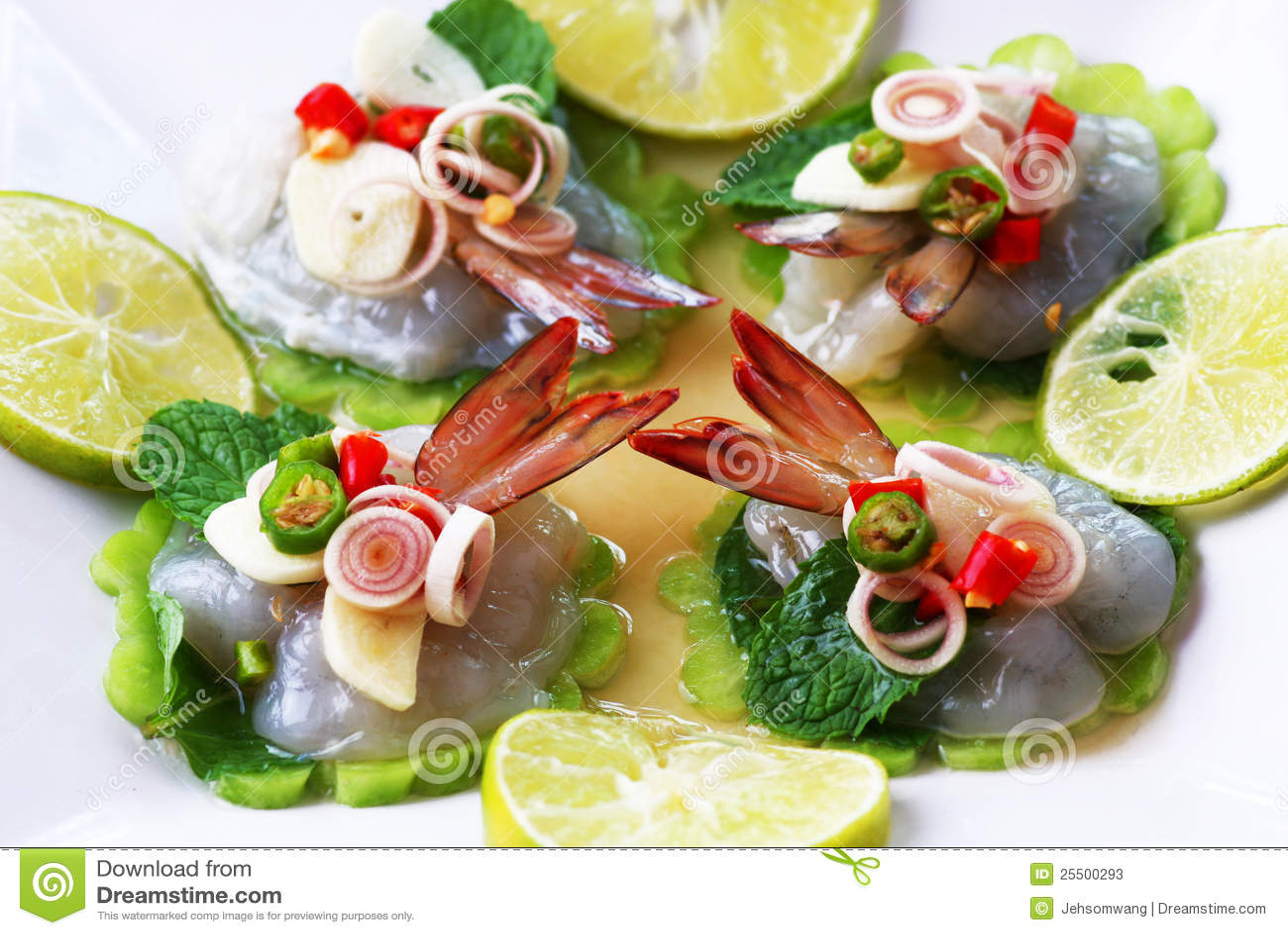 鱼食物调味汁泰国海运的虾