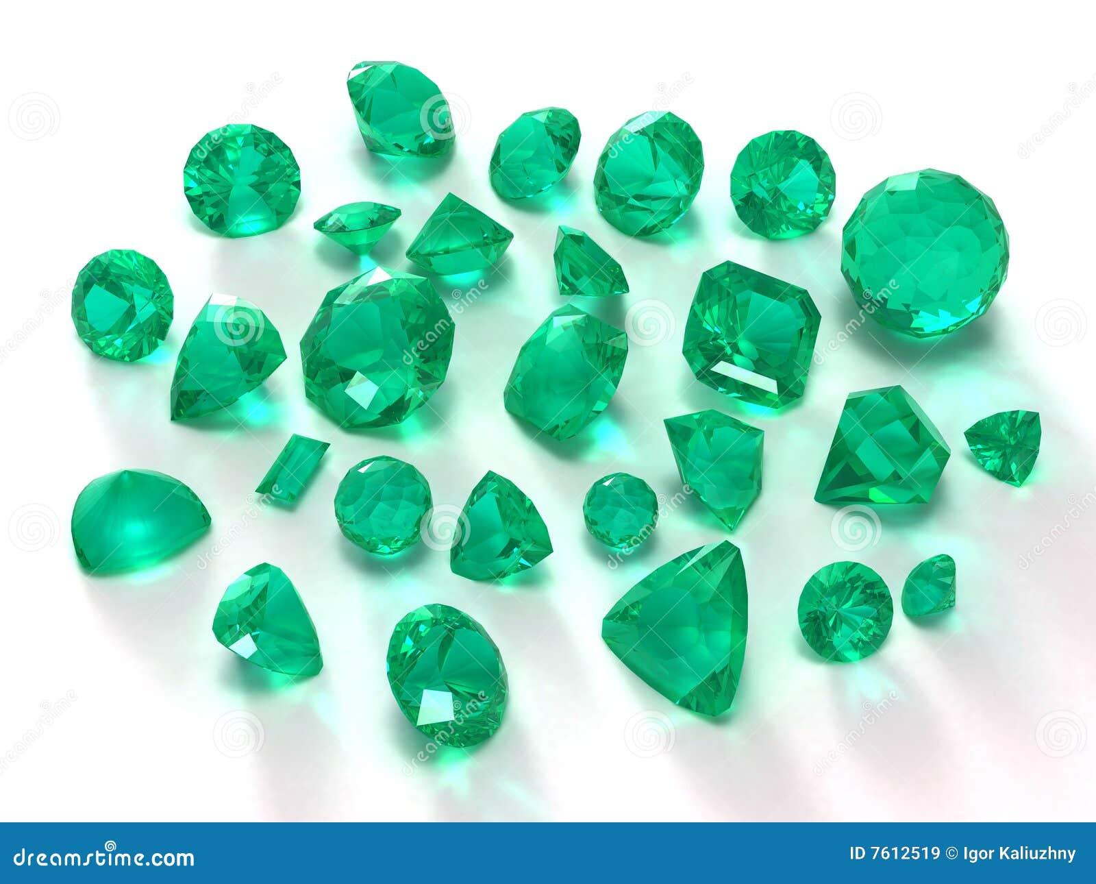 鲜绿色宝石