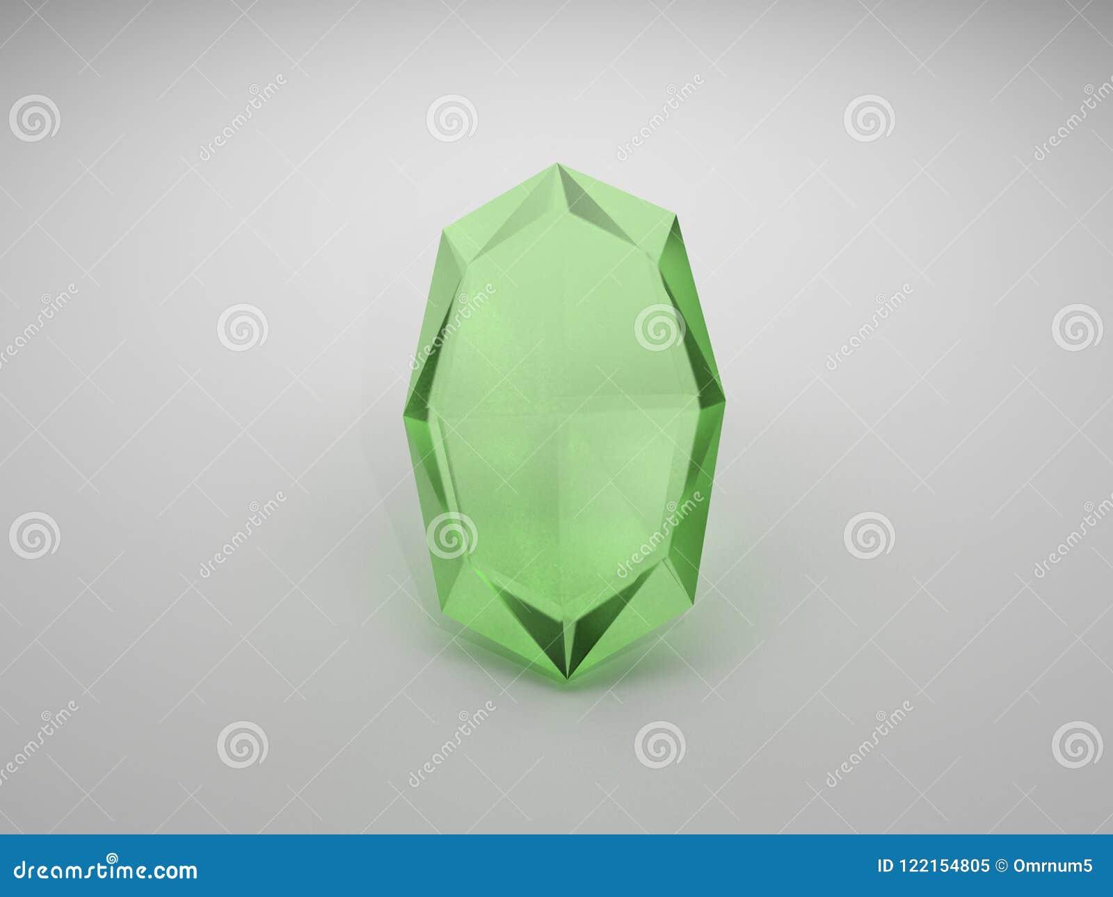 鲜绿色的珠宝