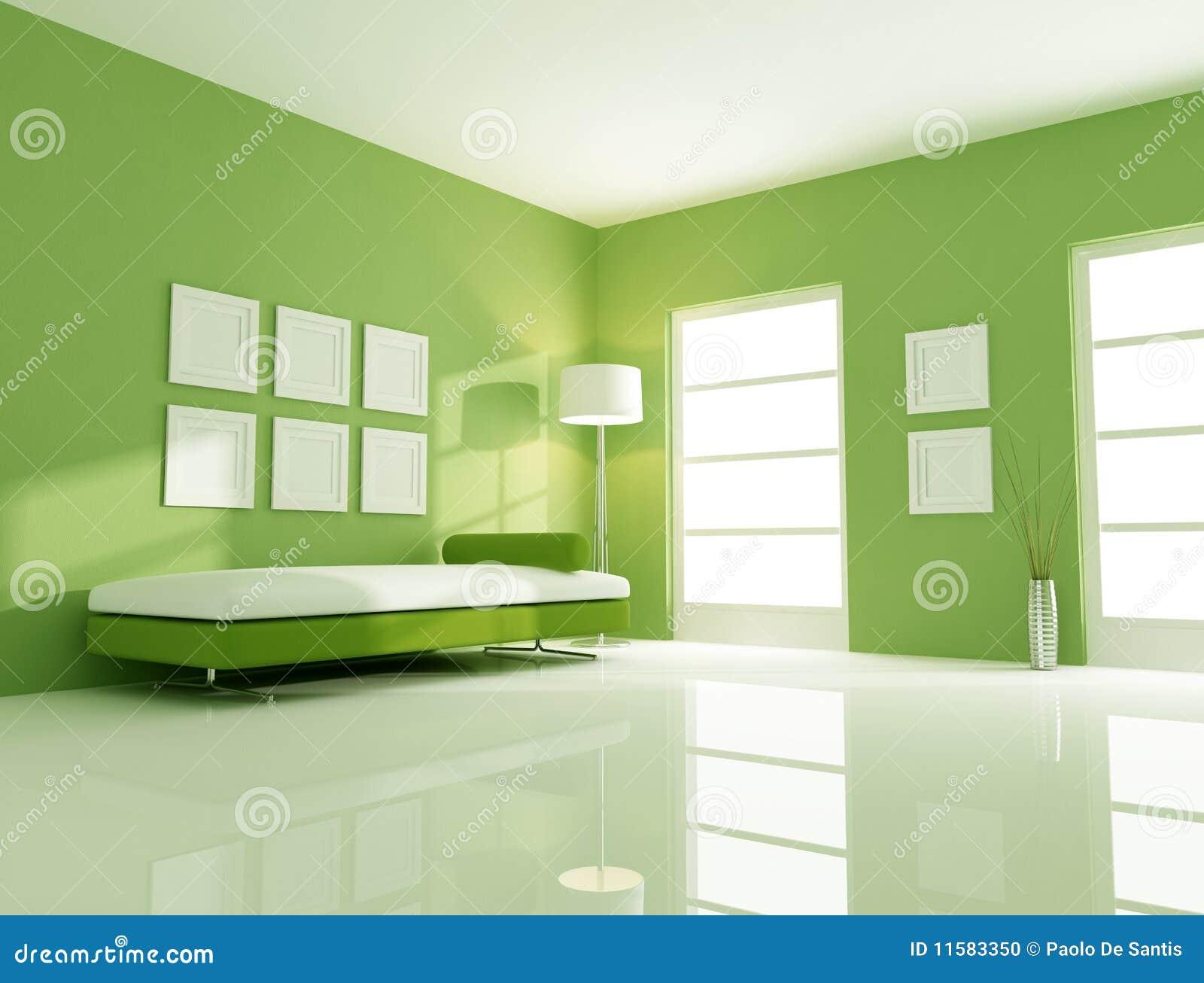 鲜绿色的空间