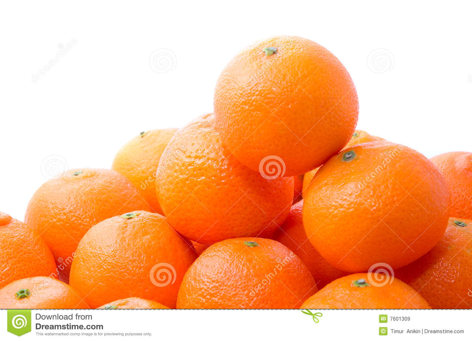 鲜美明亮的橙色堆的tangerins