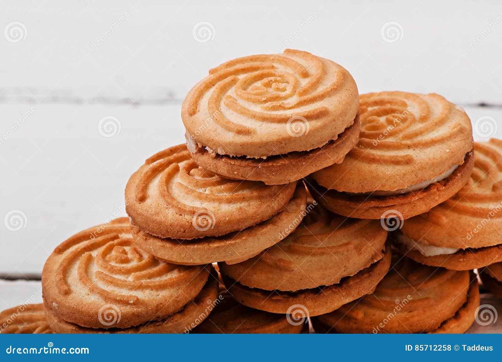 鲜美被烘烤的曲奇饼