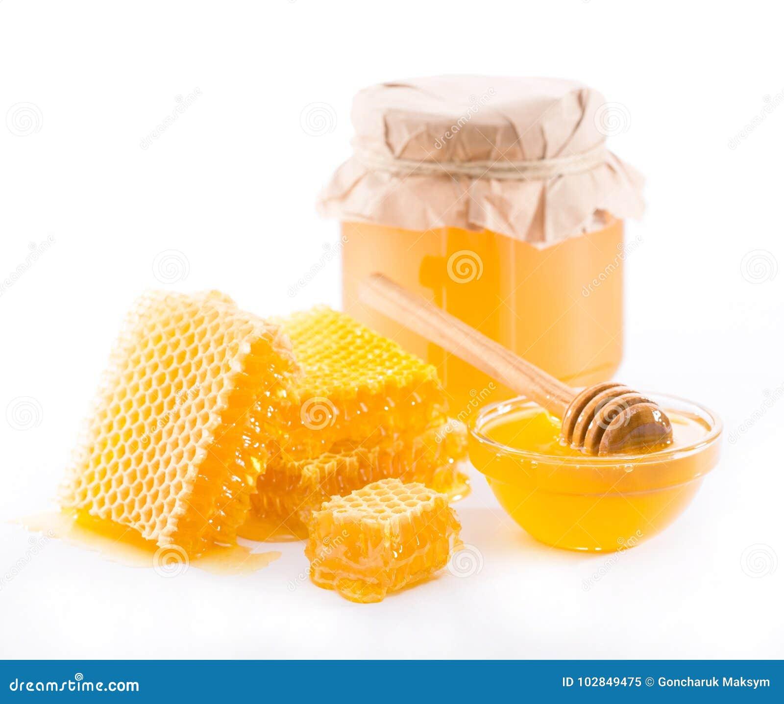鲜花蜂蜜和蜂窝